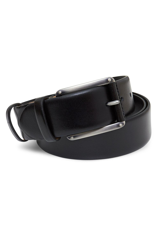 Ремень кожаный черного цвета 18-01-05J