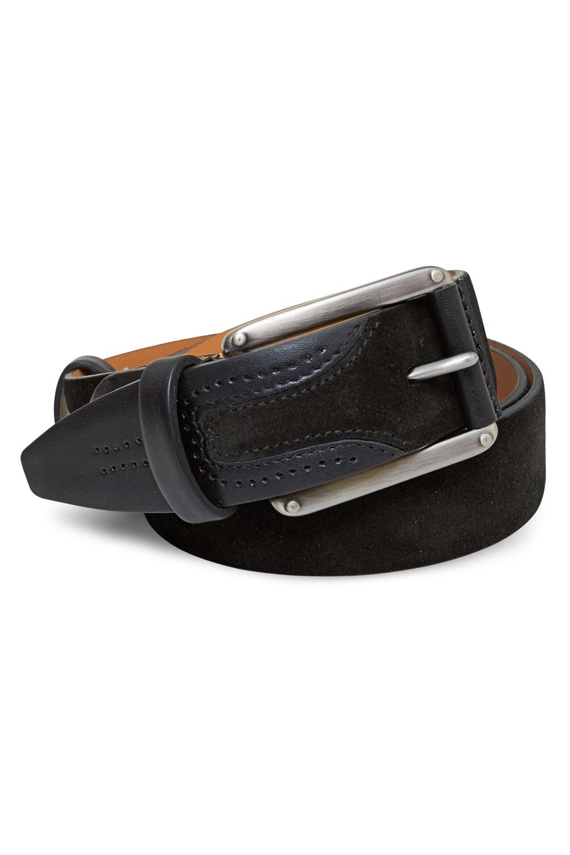 Ремень кожаный черного цвета 18-01-10J