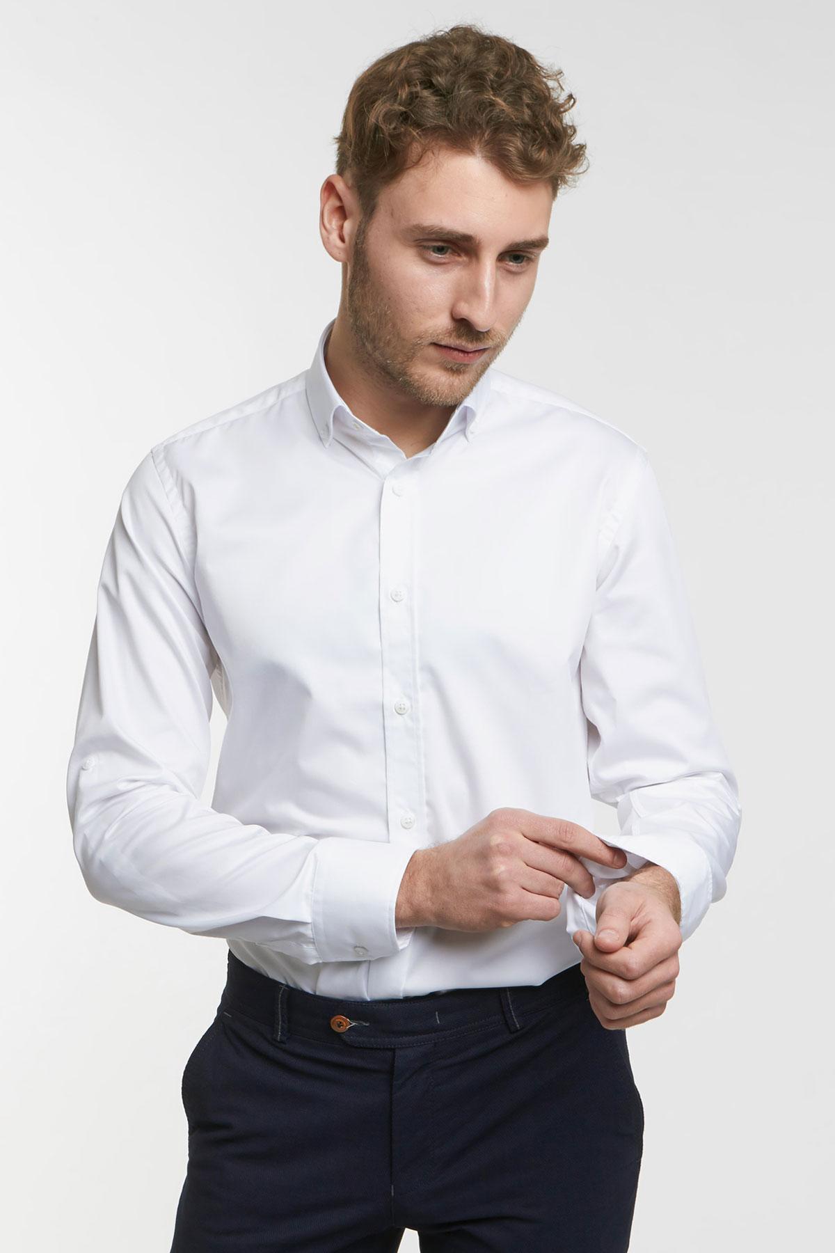 Рубашка белая  Vaismann 18117
