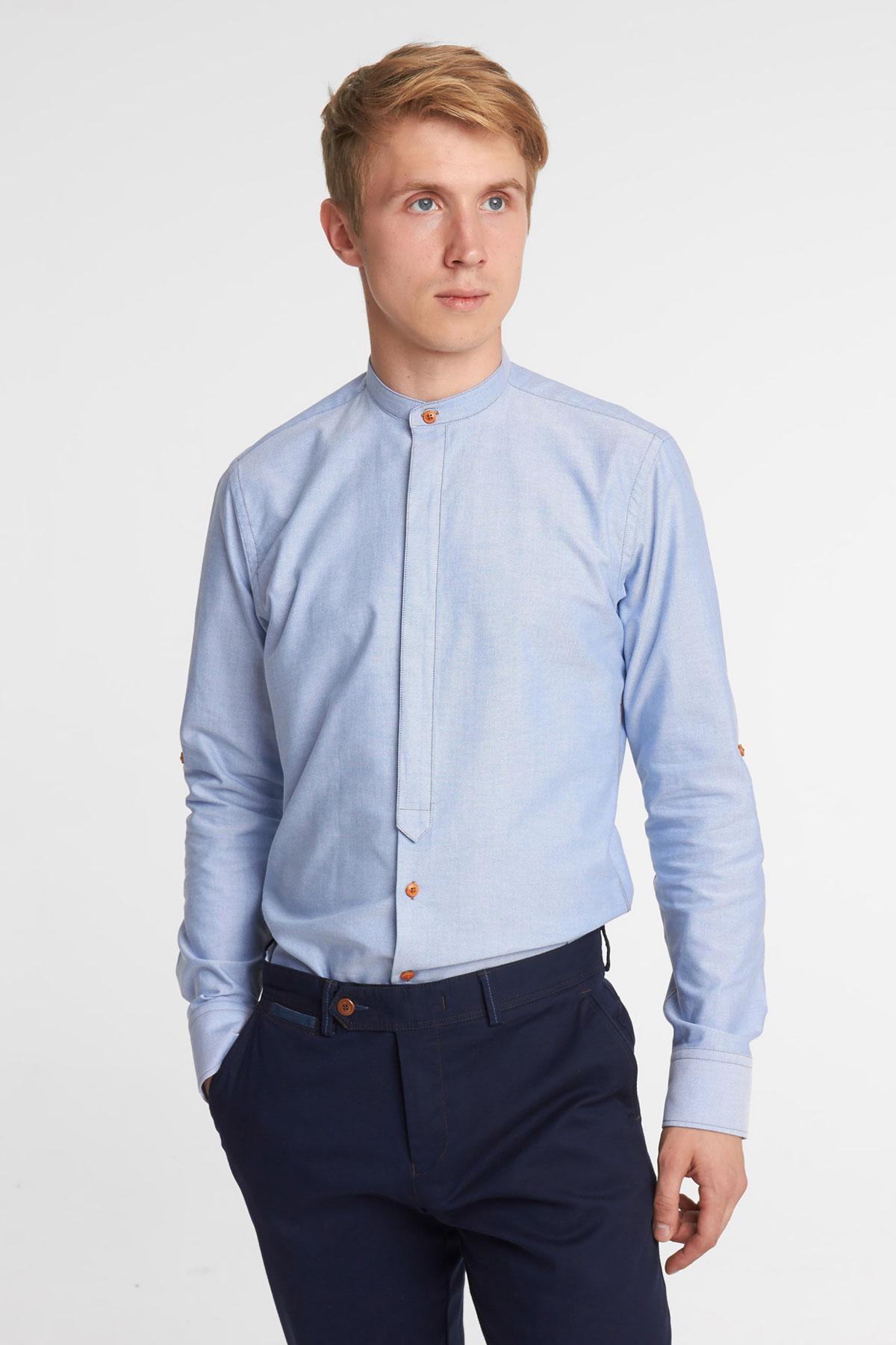 Рубашка синего цвета Vaismann 18120
