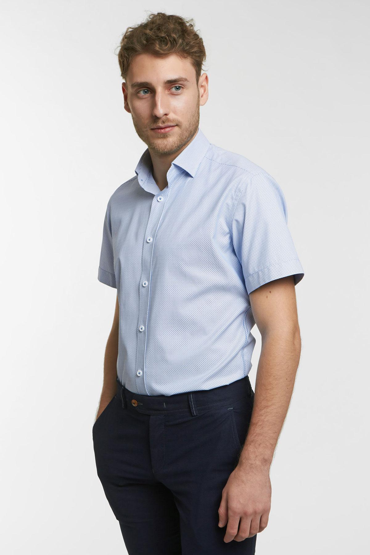 Рубашка структурная фиолетового цвета 18125k