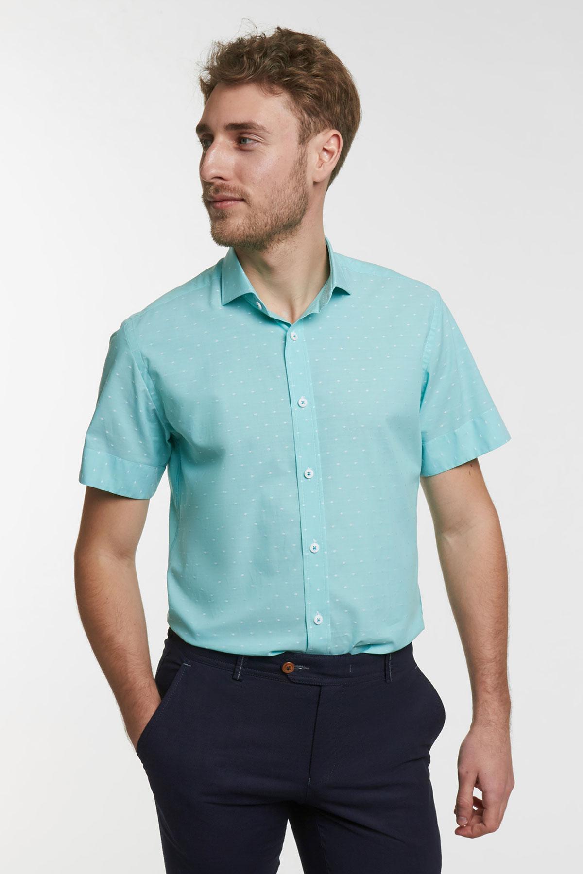Рубашка цвета мяты 18135