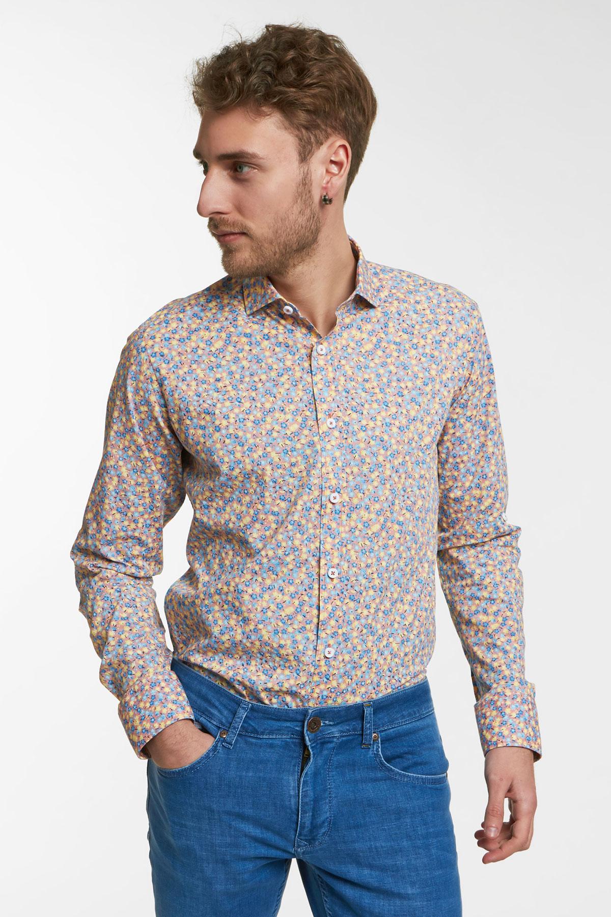 Рубашка с цветным узором Vaismann 18138