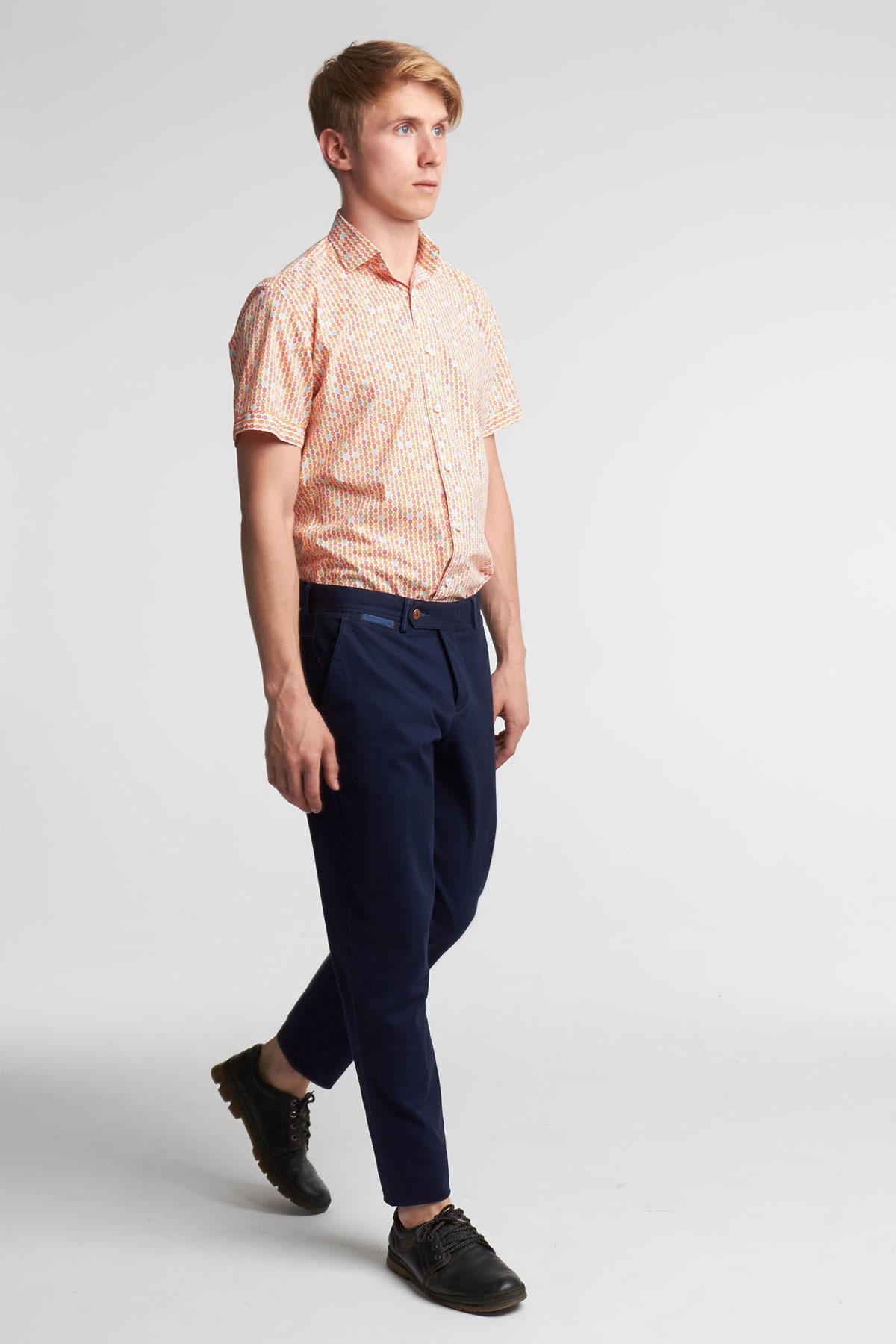 Рубашка с коротким рукавом - цветной узор 18140