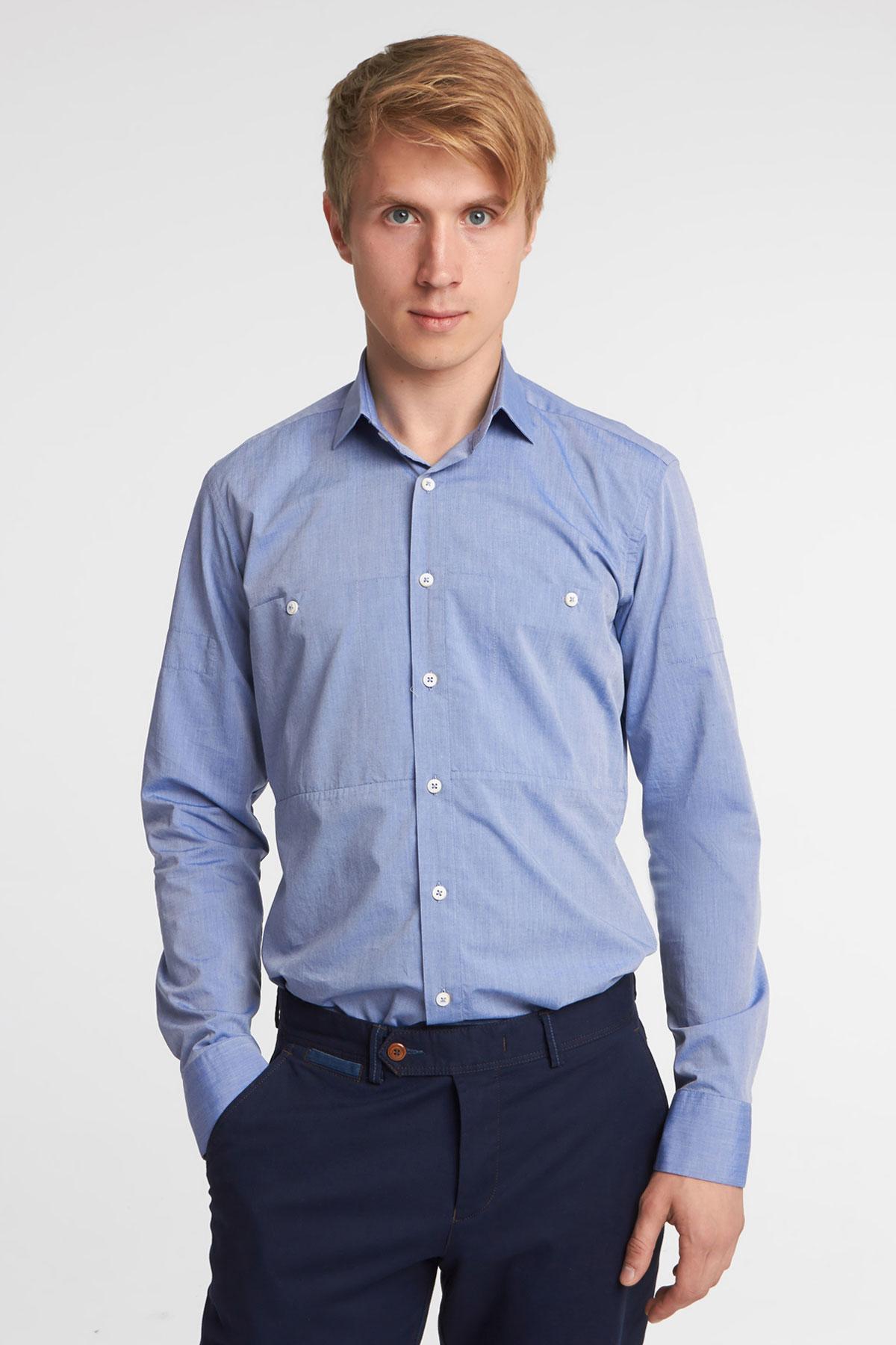 Рубашка синего цвета Vaismann 18141