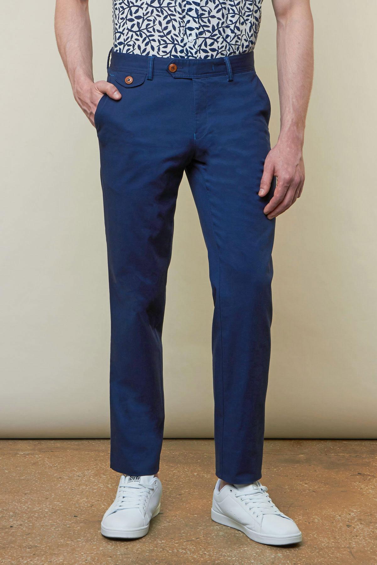 Брюки «chinos» синего цвета Vaismann 19722