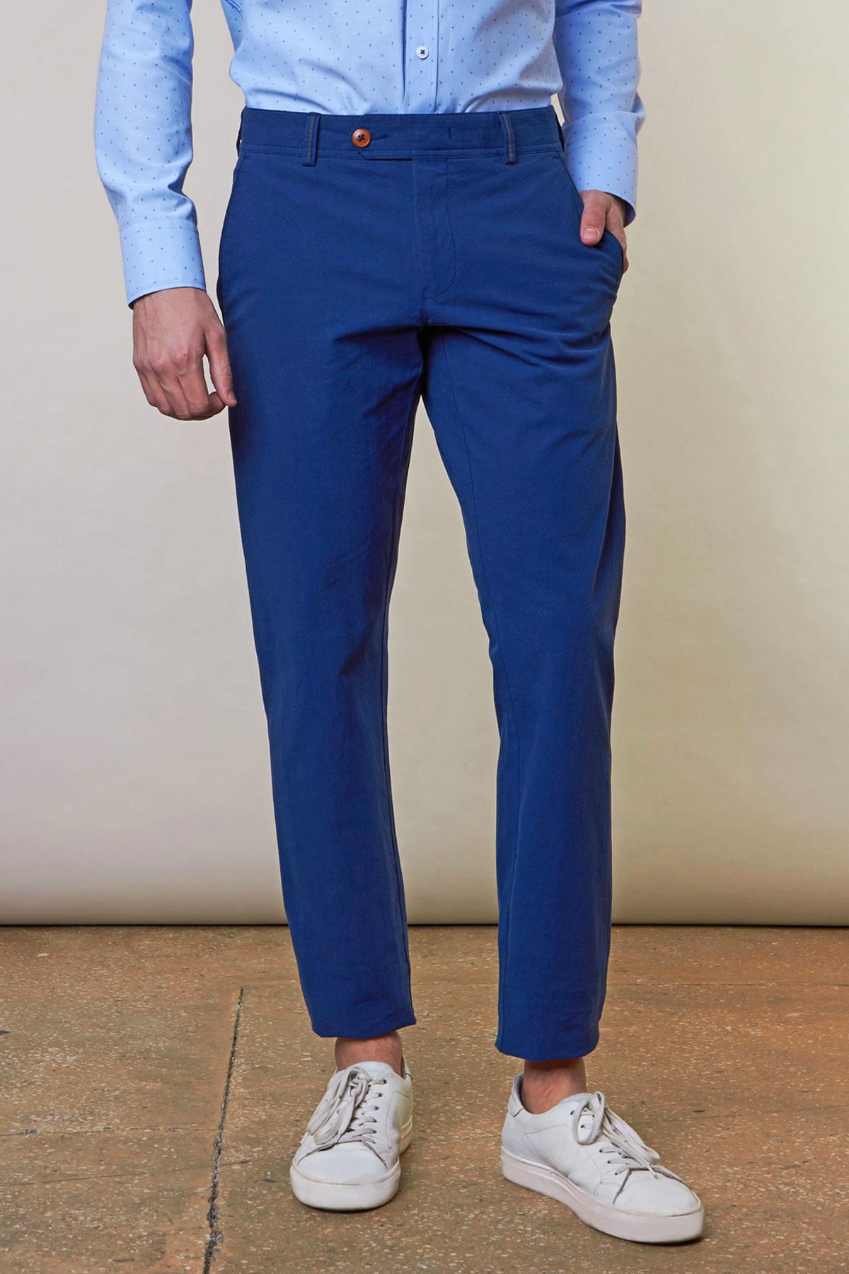 Брюки синего цвета Vaismann 19725