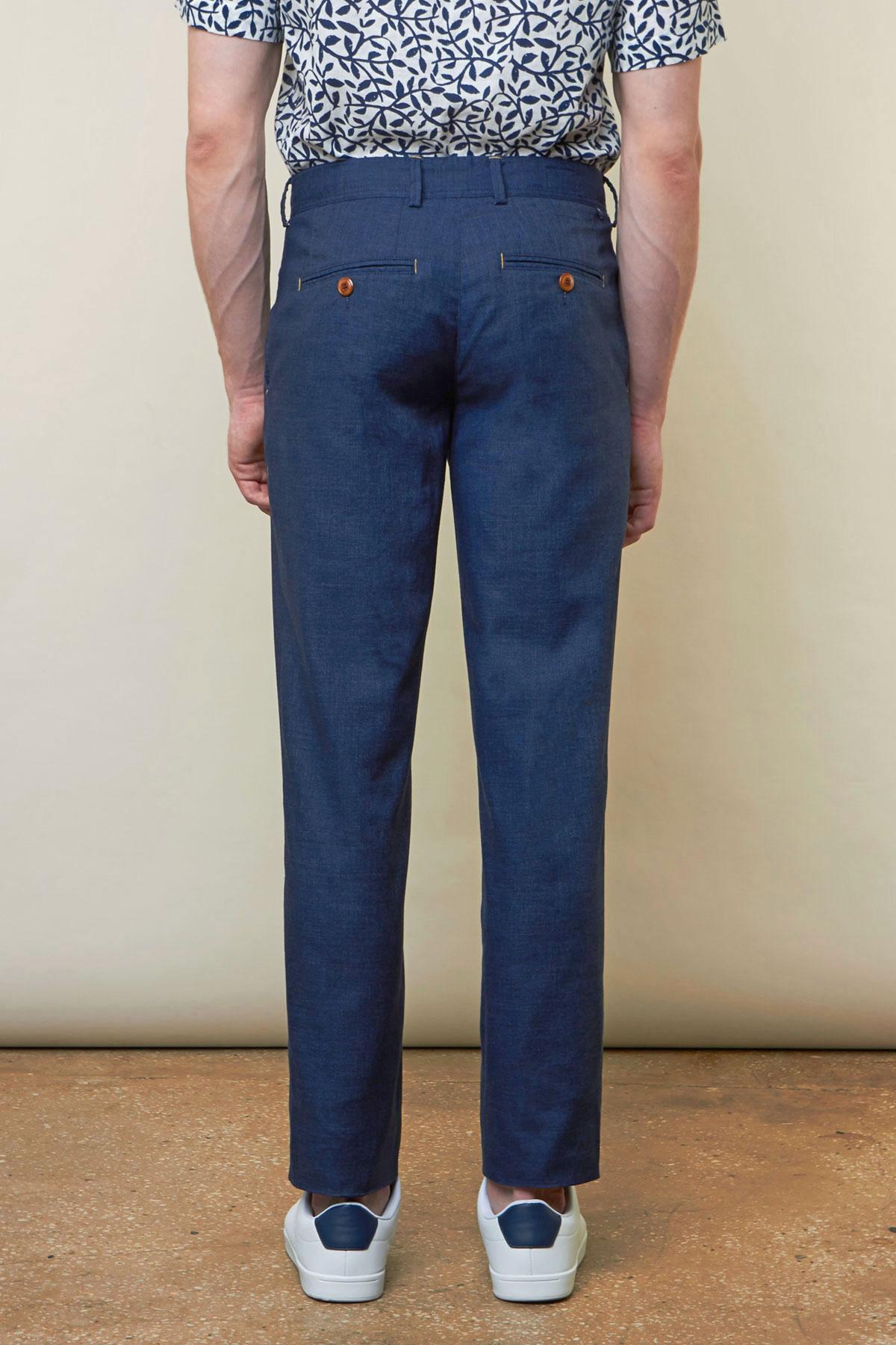 Брюки «chinos» синего цвета Vaismann 19726