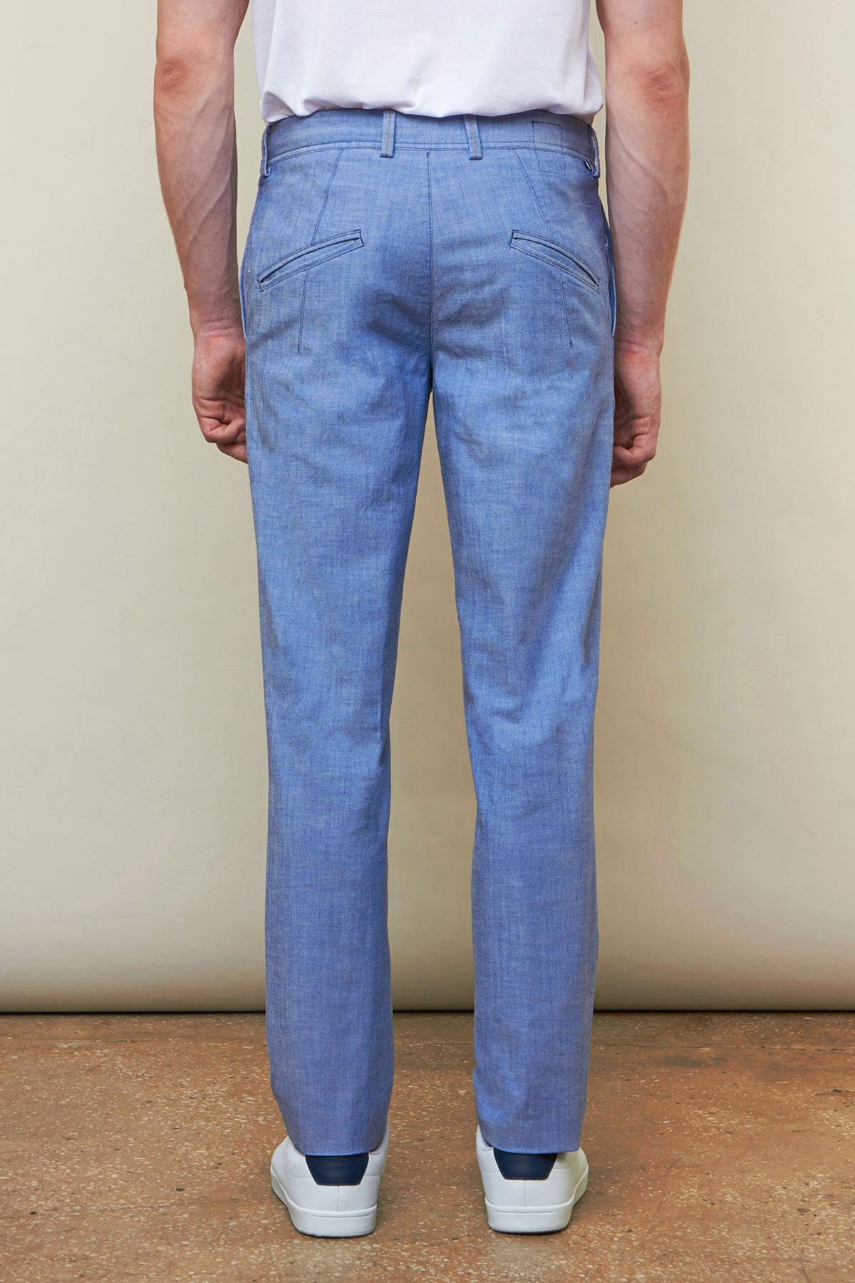 Брюки «chinos» синего цвета Vaismann 19727