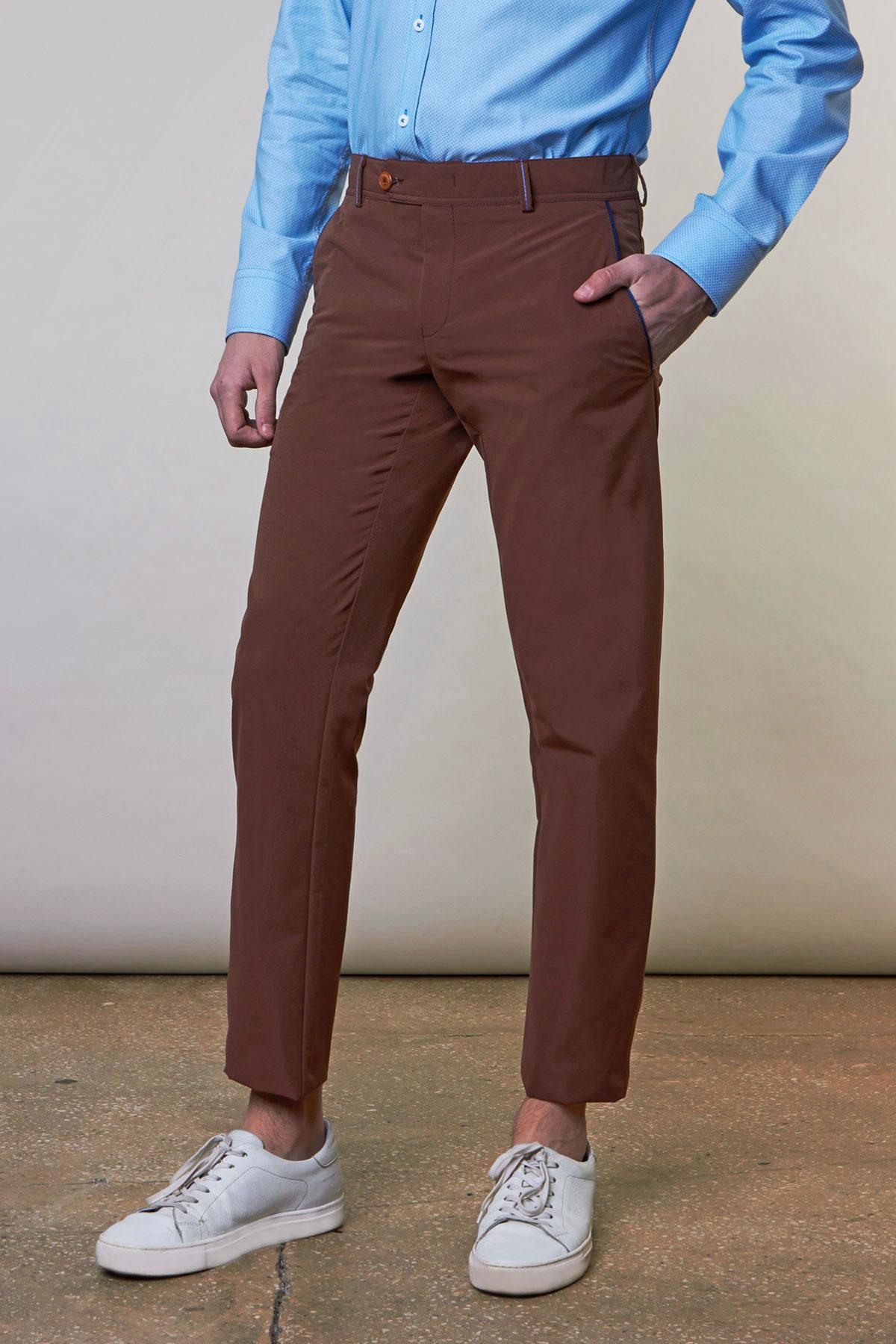 Брюки «chinos» коричневого цвета Vaismann 19730