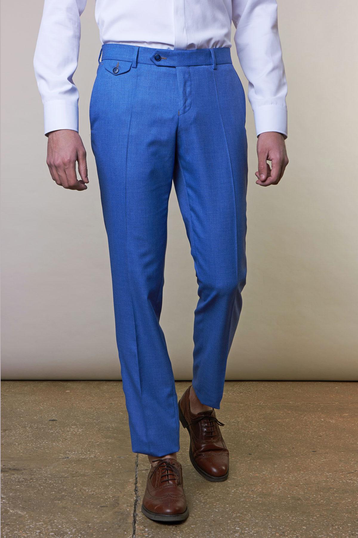 Брюки голубого цвета Vaismann 19703