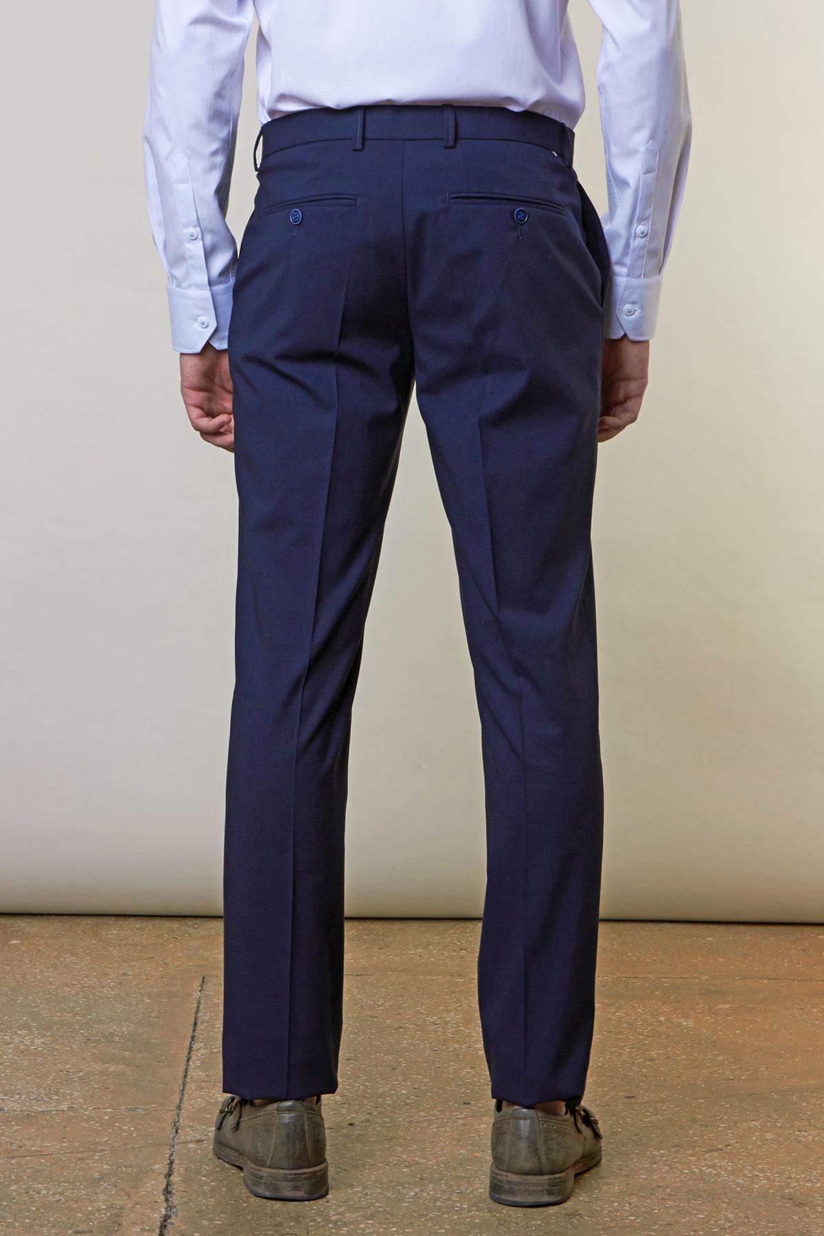 Брюки темно-синего цвета Vaismann 19707