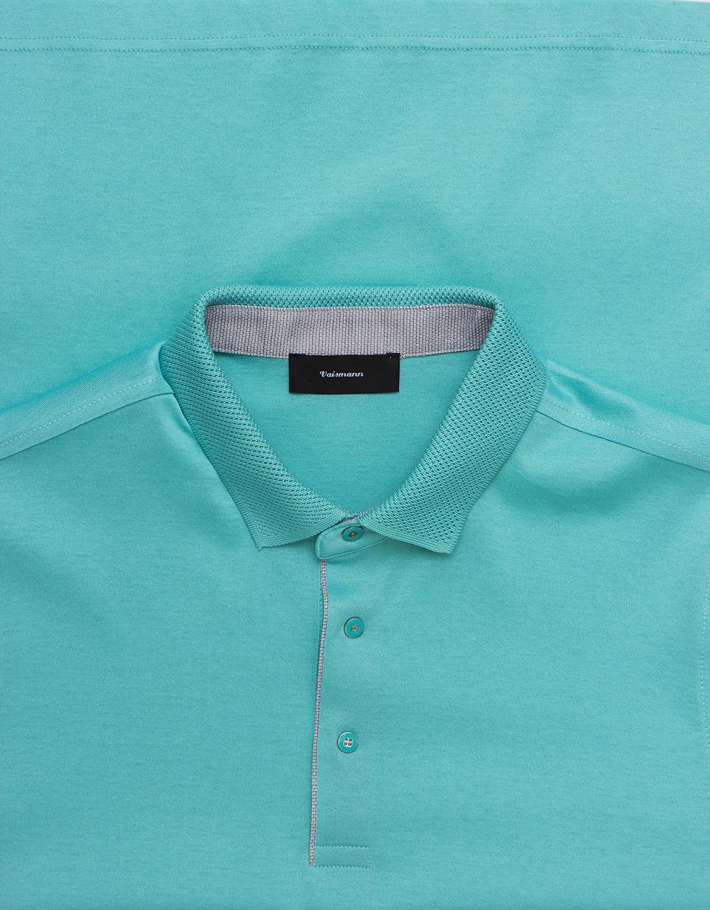 Поло голубого цвета Vaismann 19-SF25-18