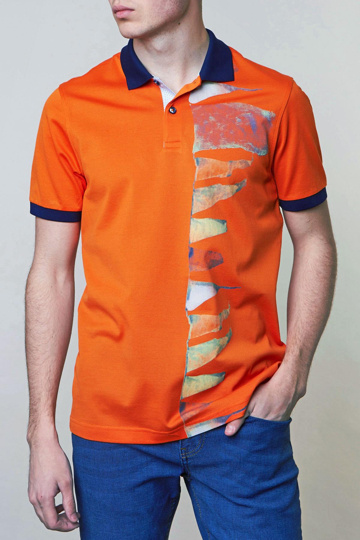 Поло оранжевого цвета Vaismann 19-SF94-15