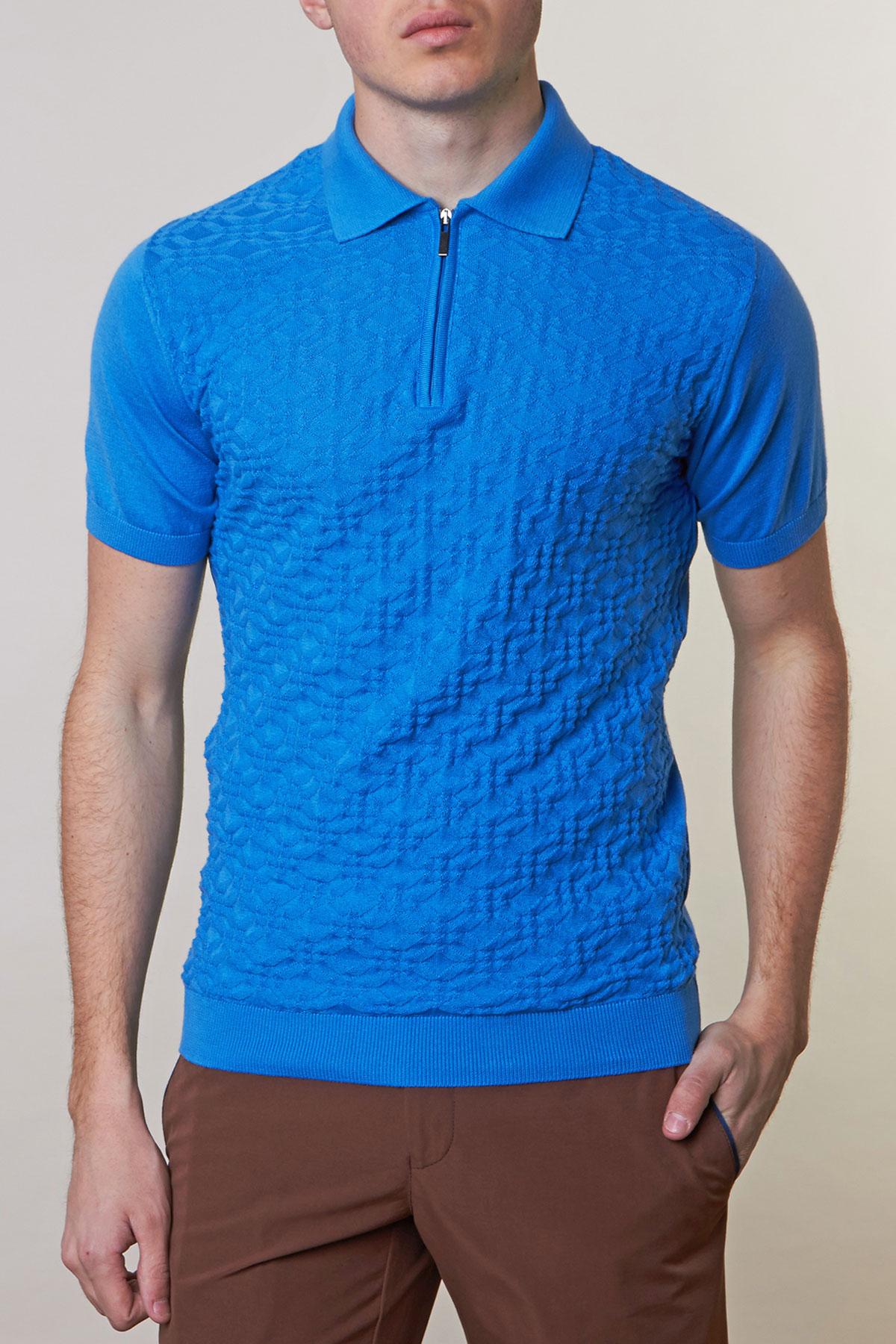 Поло синего цвета Vaismann 19ER7027-17