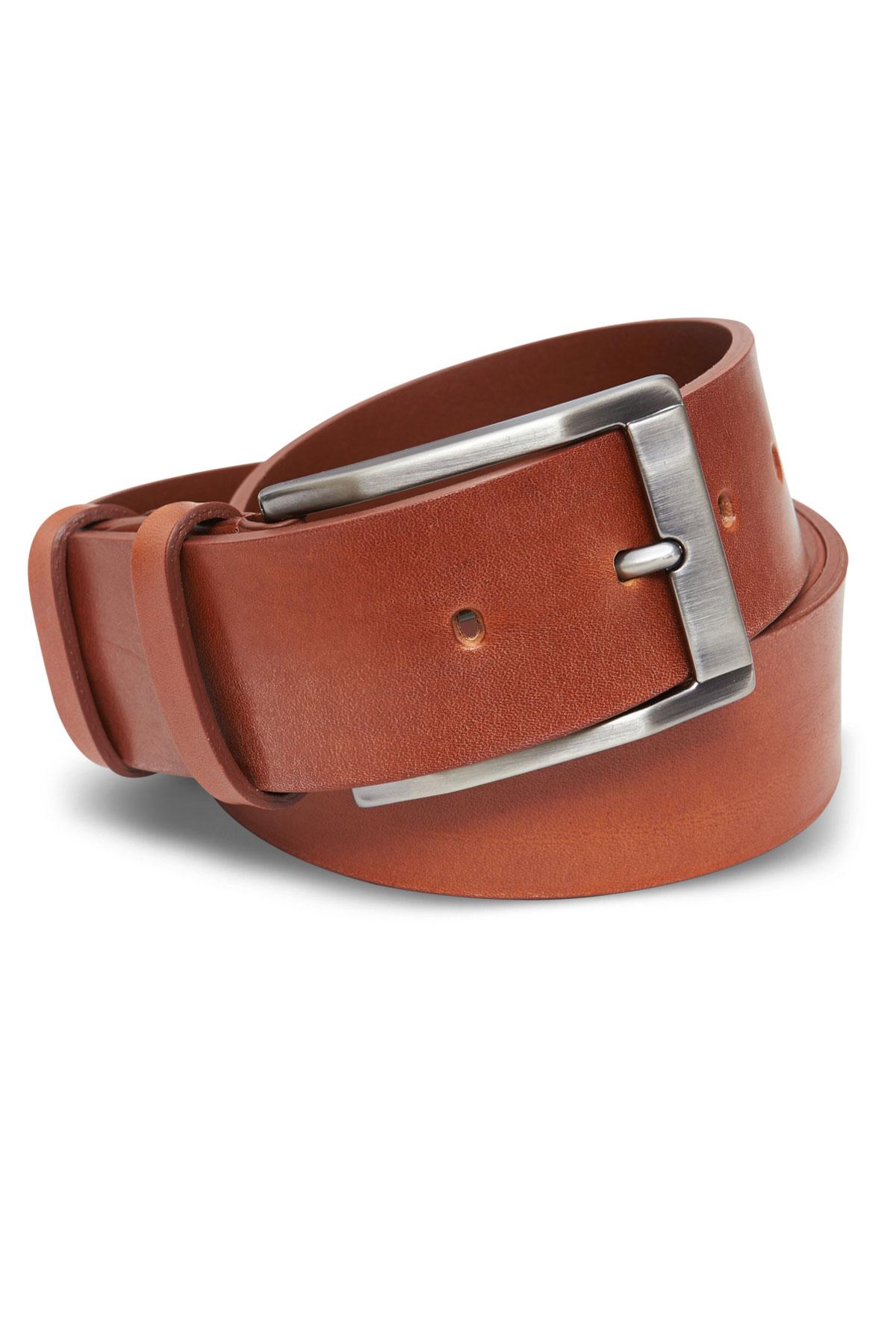 Ремень кожаный коричневого цвета 19-04-01