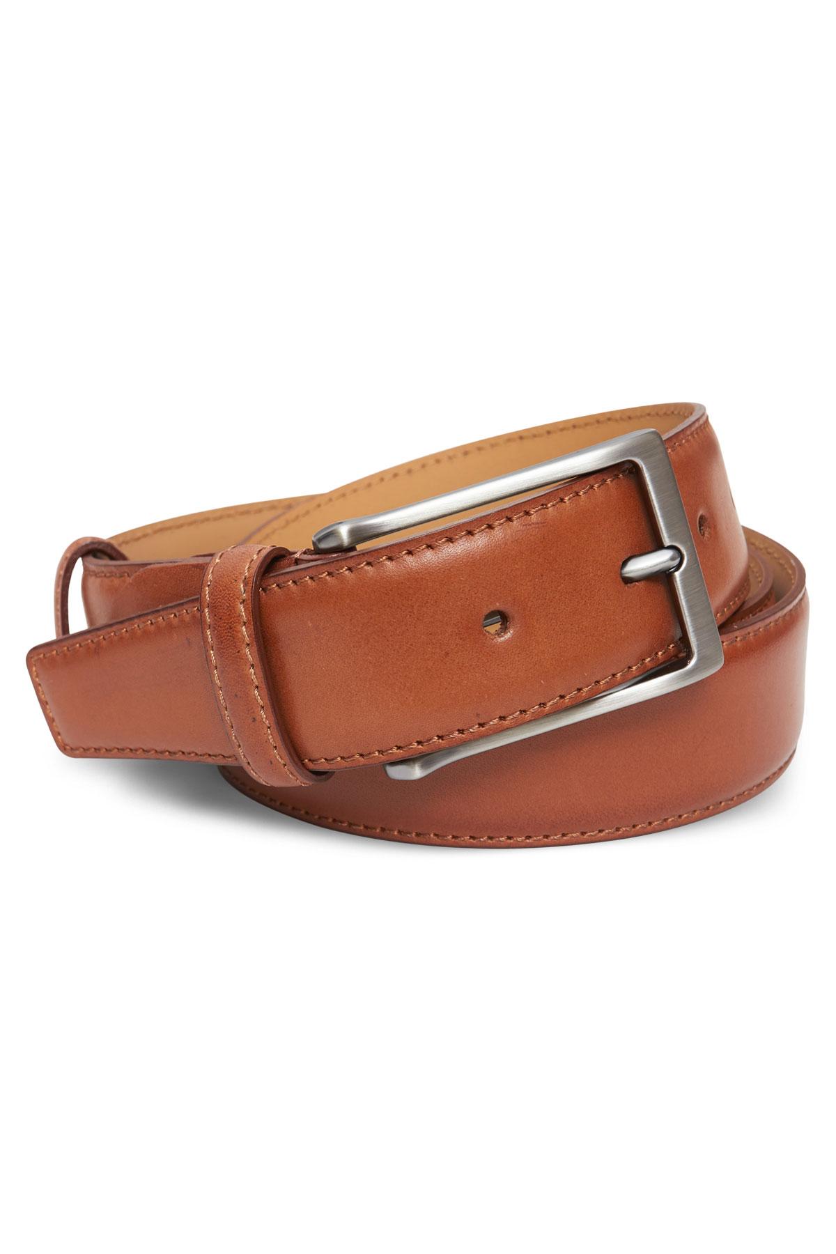 Ремень кожаный коричневого цвета 19-04-03