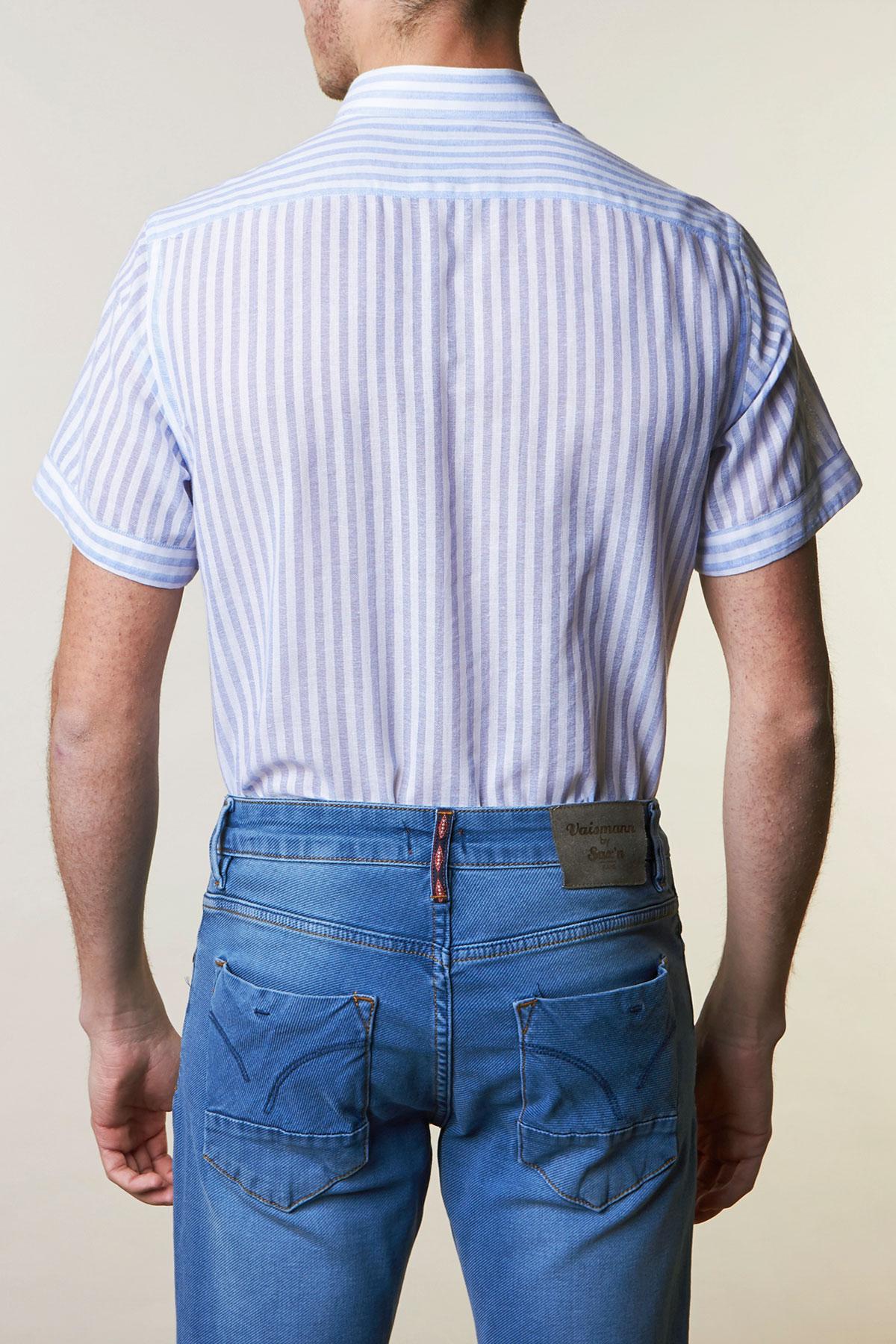 Рубашка белого цвета в полоску Vaismann 19107