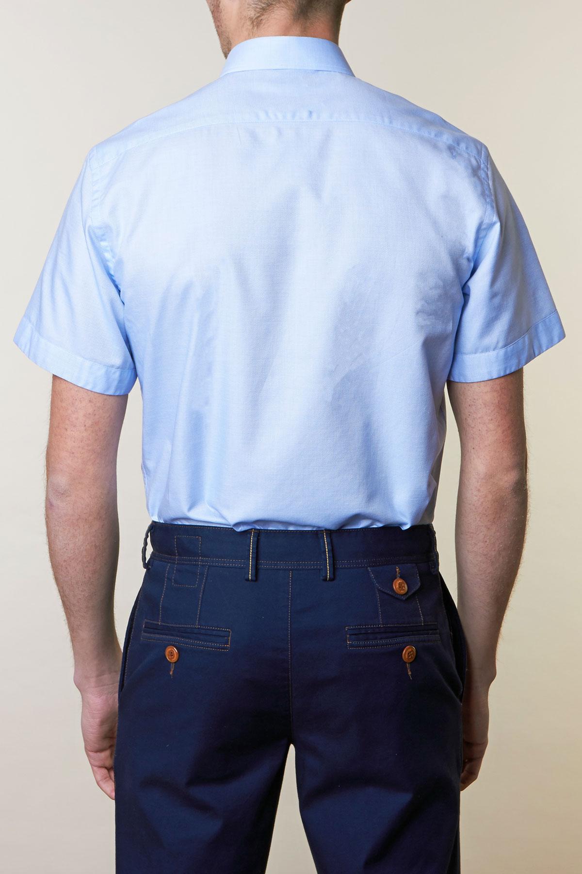 Рубашка голубого цвета Vaismann 19110