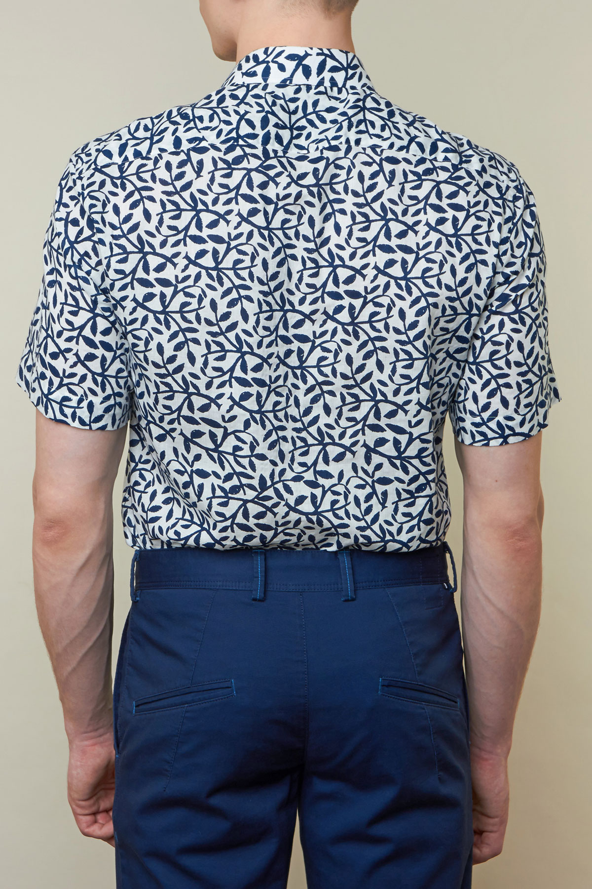 Рубашка в цветочный арнамент Vaismann 19118