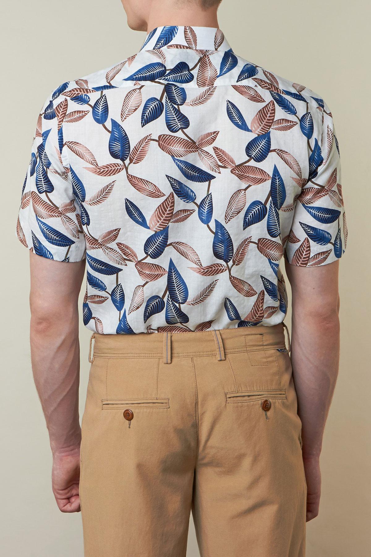 Рубашка в цветочный арнамент Vaismann 19119