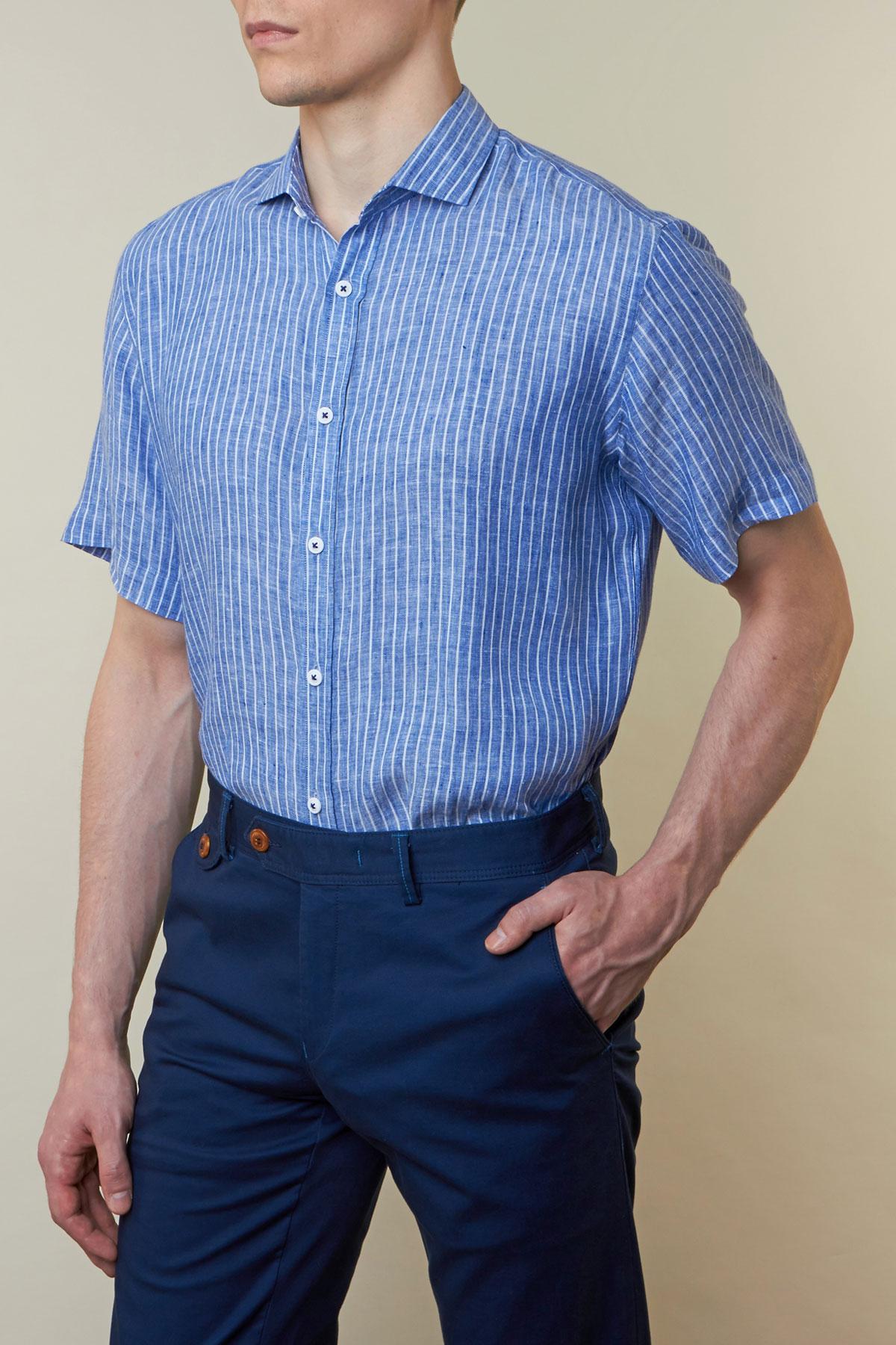 Рубашка в белую полоску Vaismann 19120