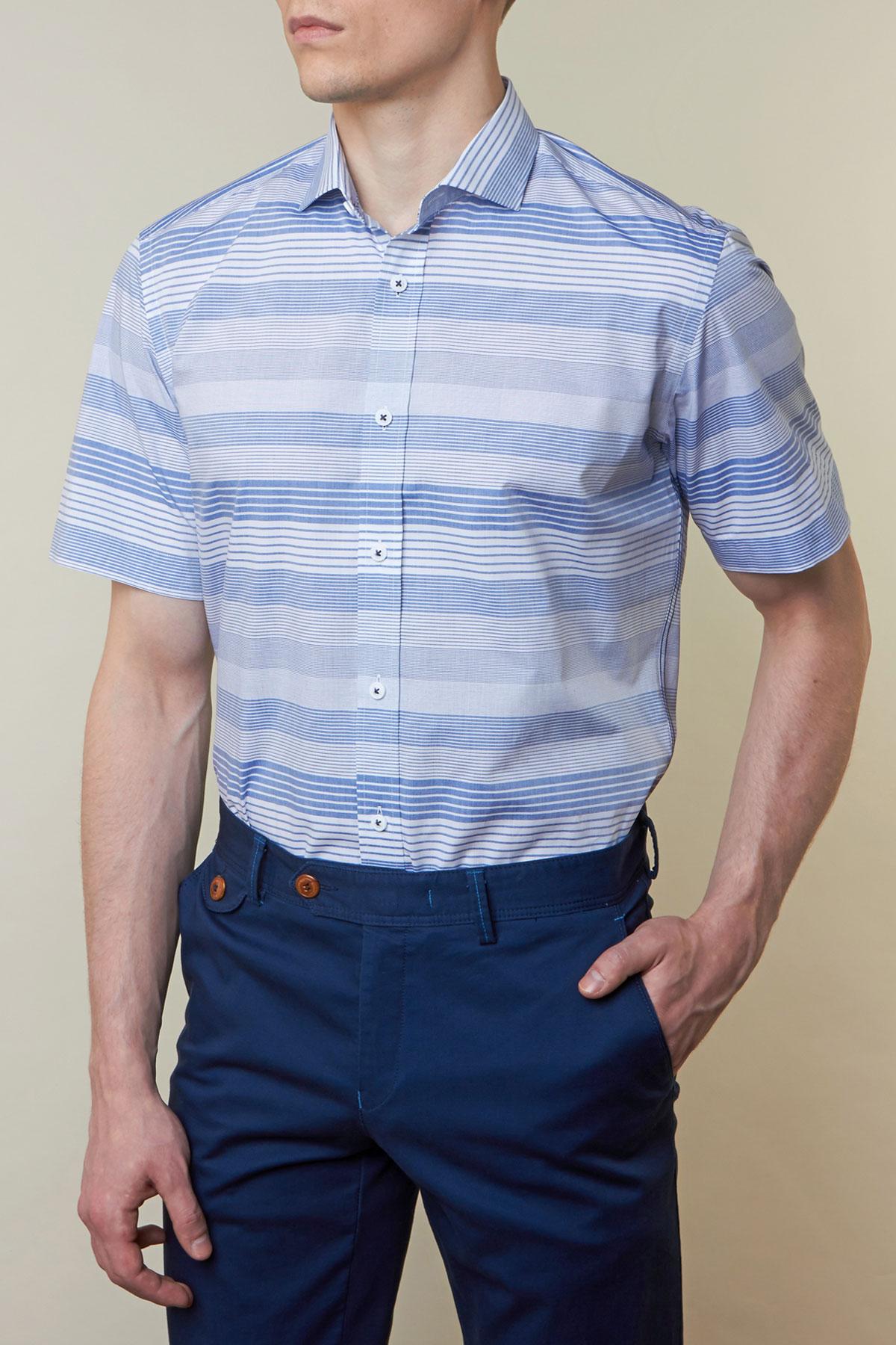 Рубашка в голубую полоску Vaismann 19121