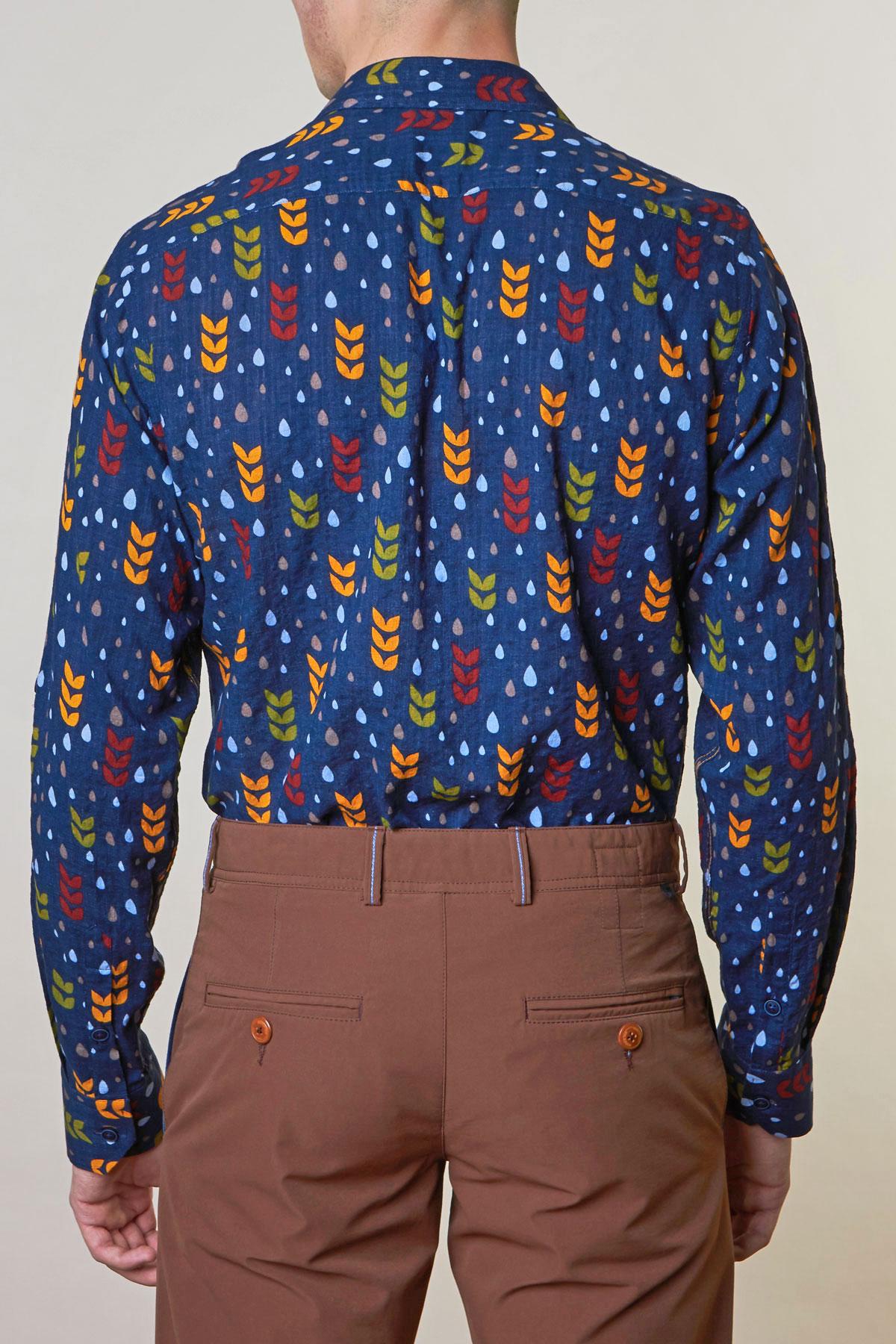 Рубашка синего цвета Vaismann 19136