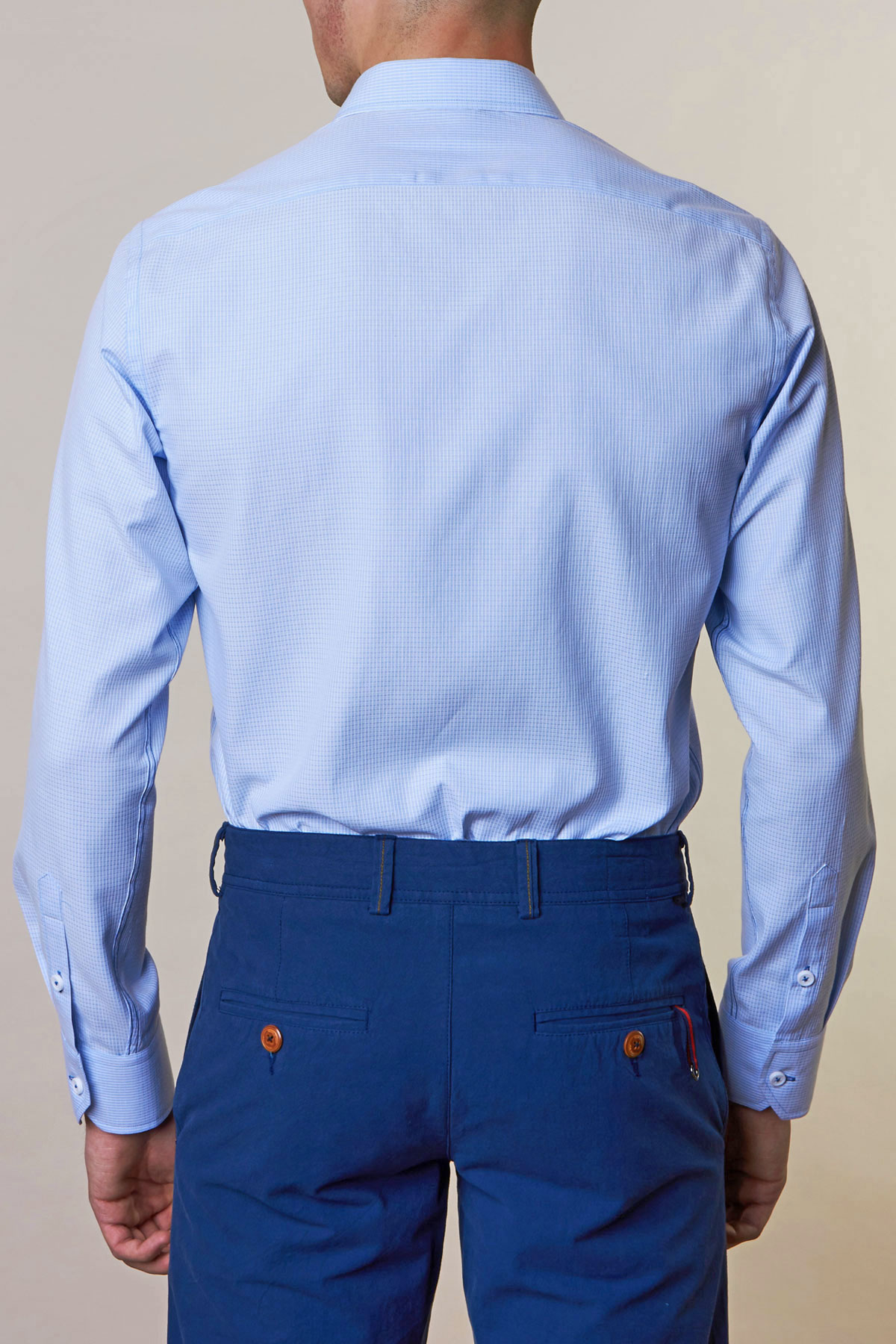 Рубашка голубого цвета Vaismann 19137
