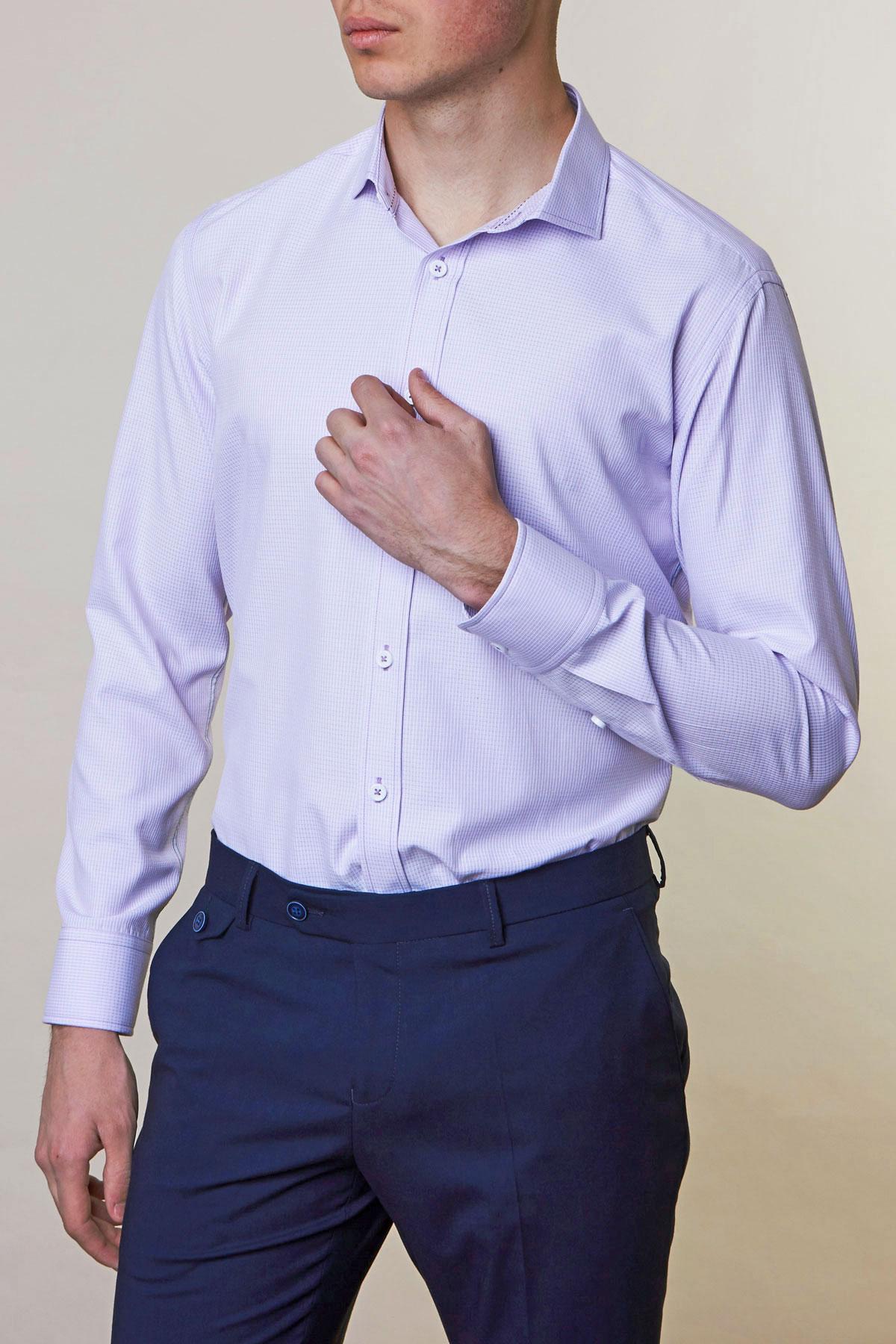 Рубашка лилового цвета Vaismann 19138
