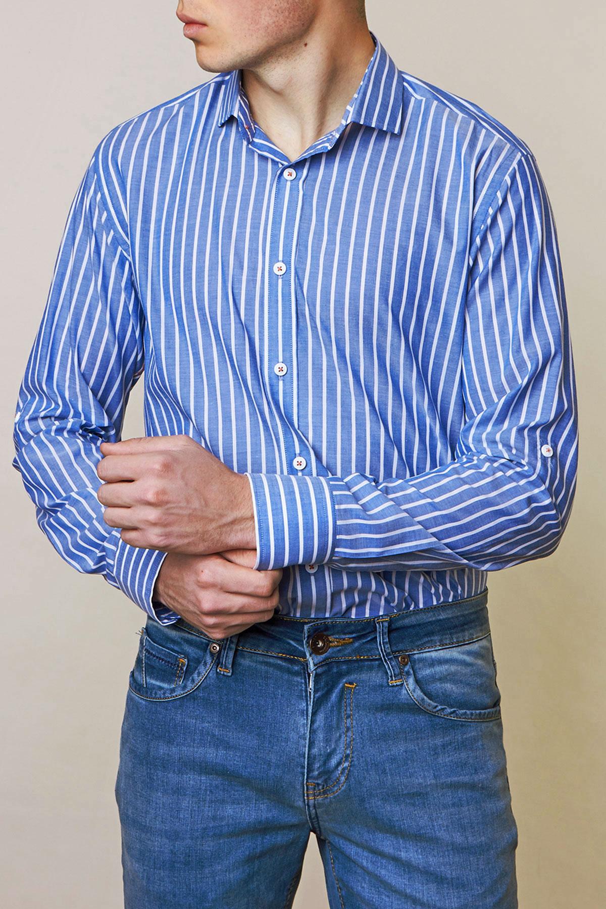 Рубашка в полоску Vaismann 19143
