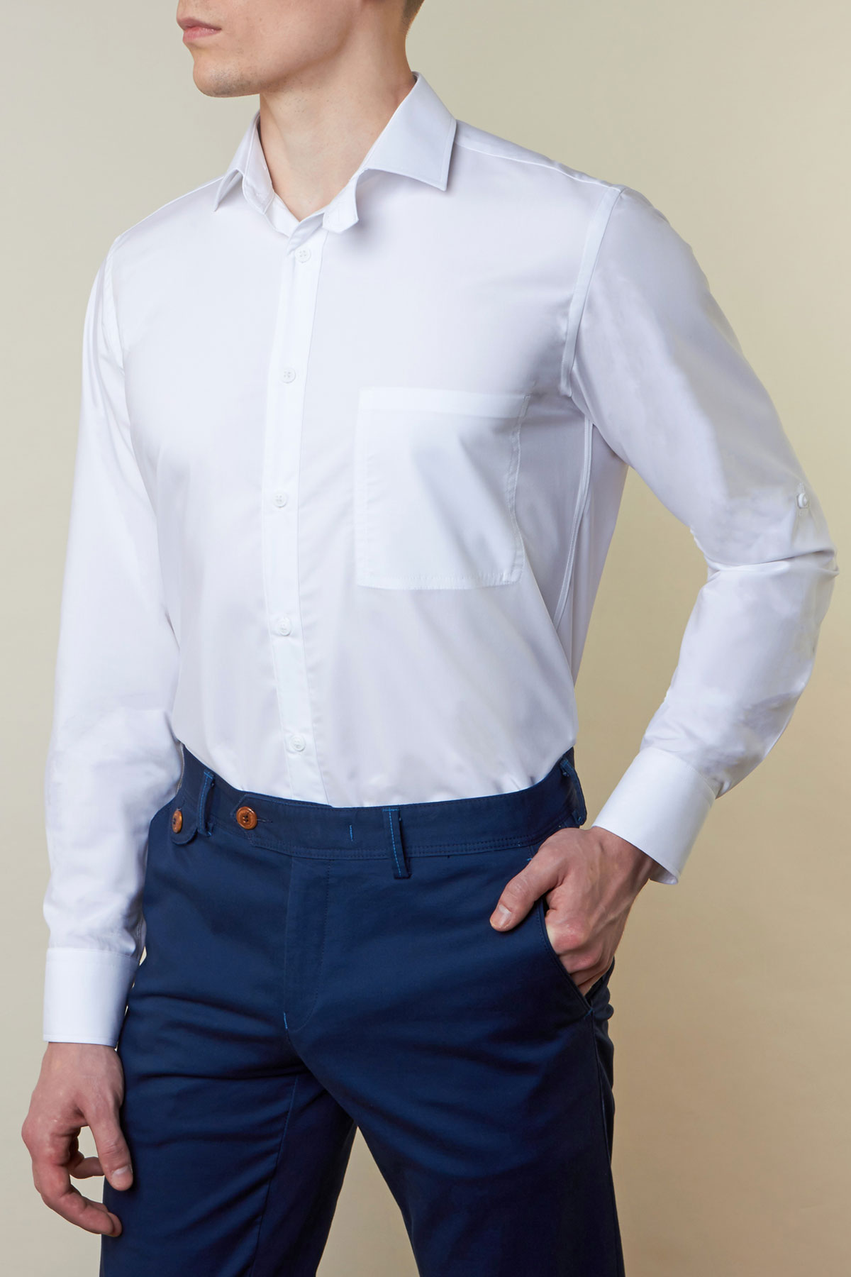 Рубашка белого цвета Vaismann 19147