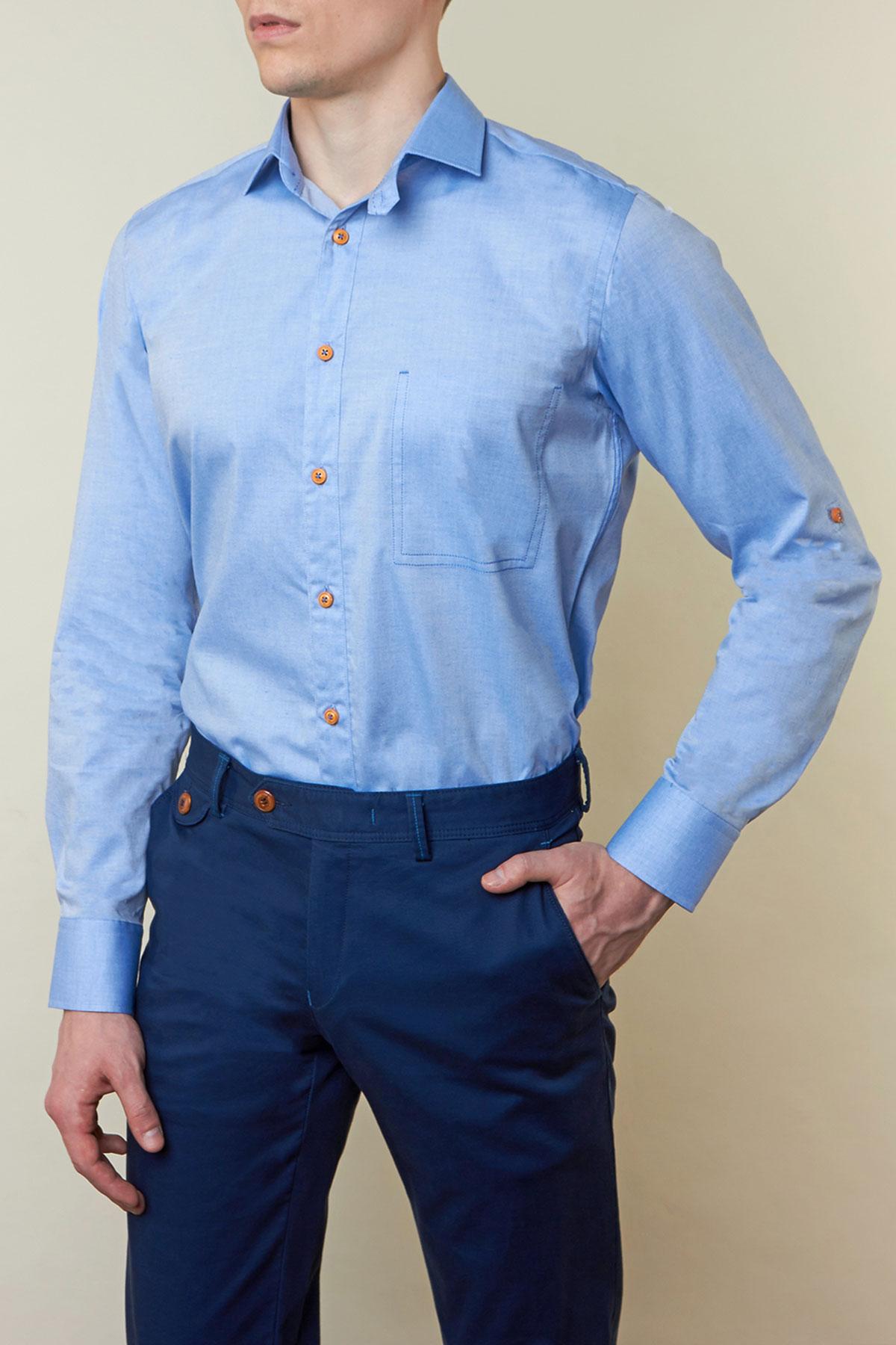 Рубашка синего цвета Vaismann 19148