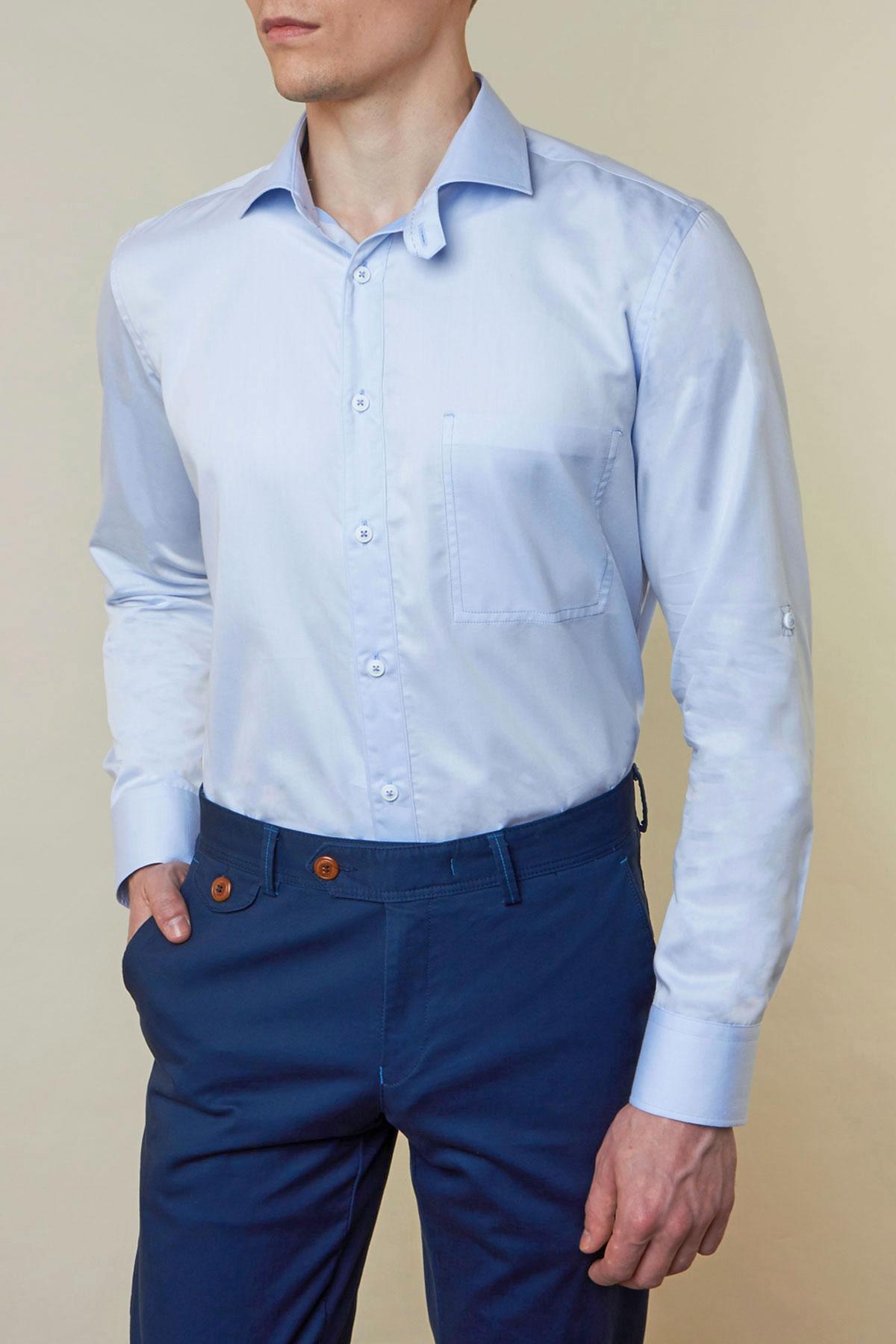 Рубашка голубого цвета Vaismann 19149