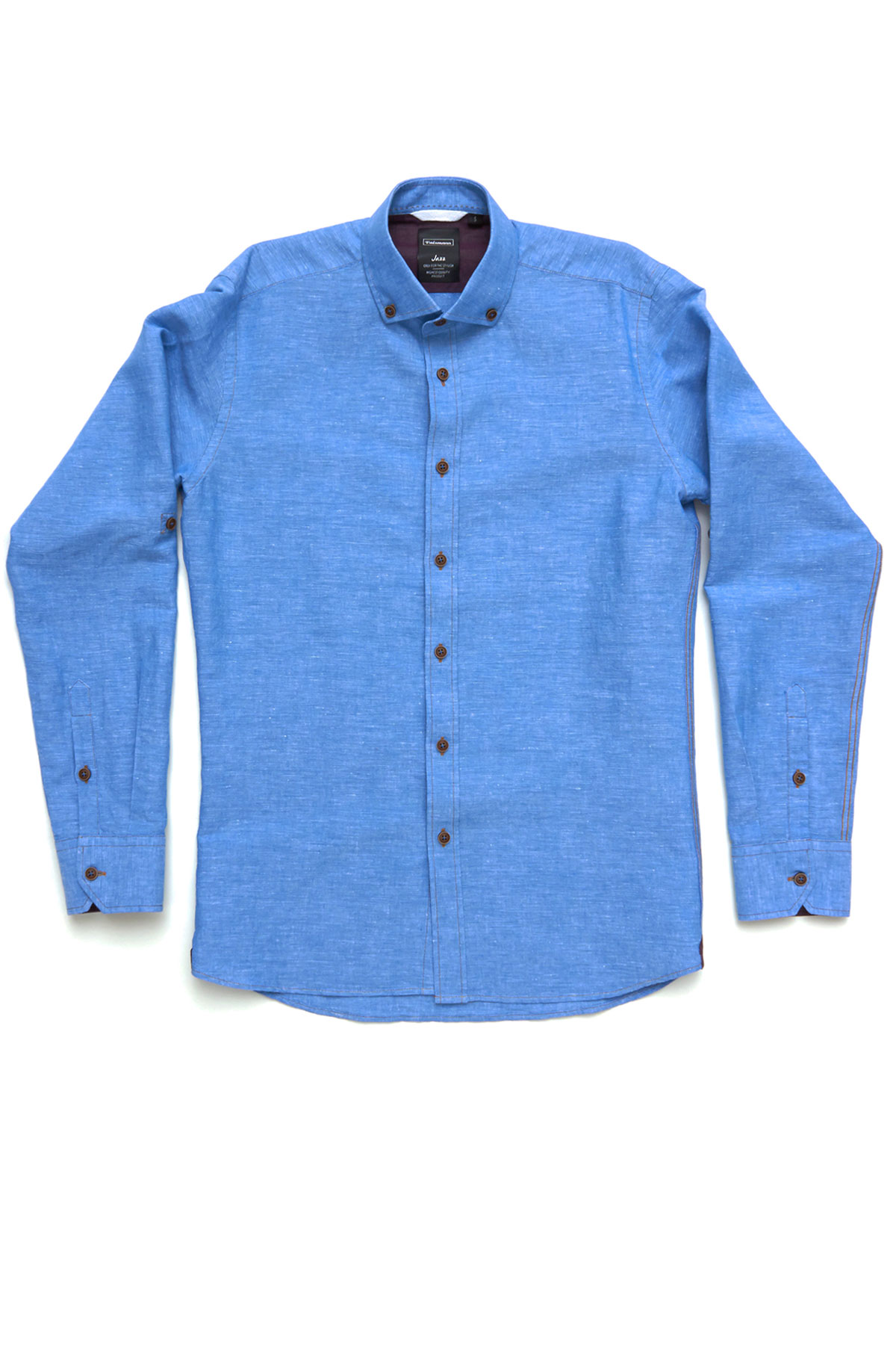Рубашка голубого цвета Vaismann 19151