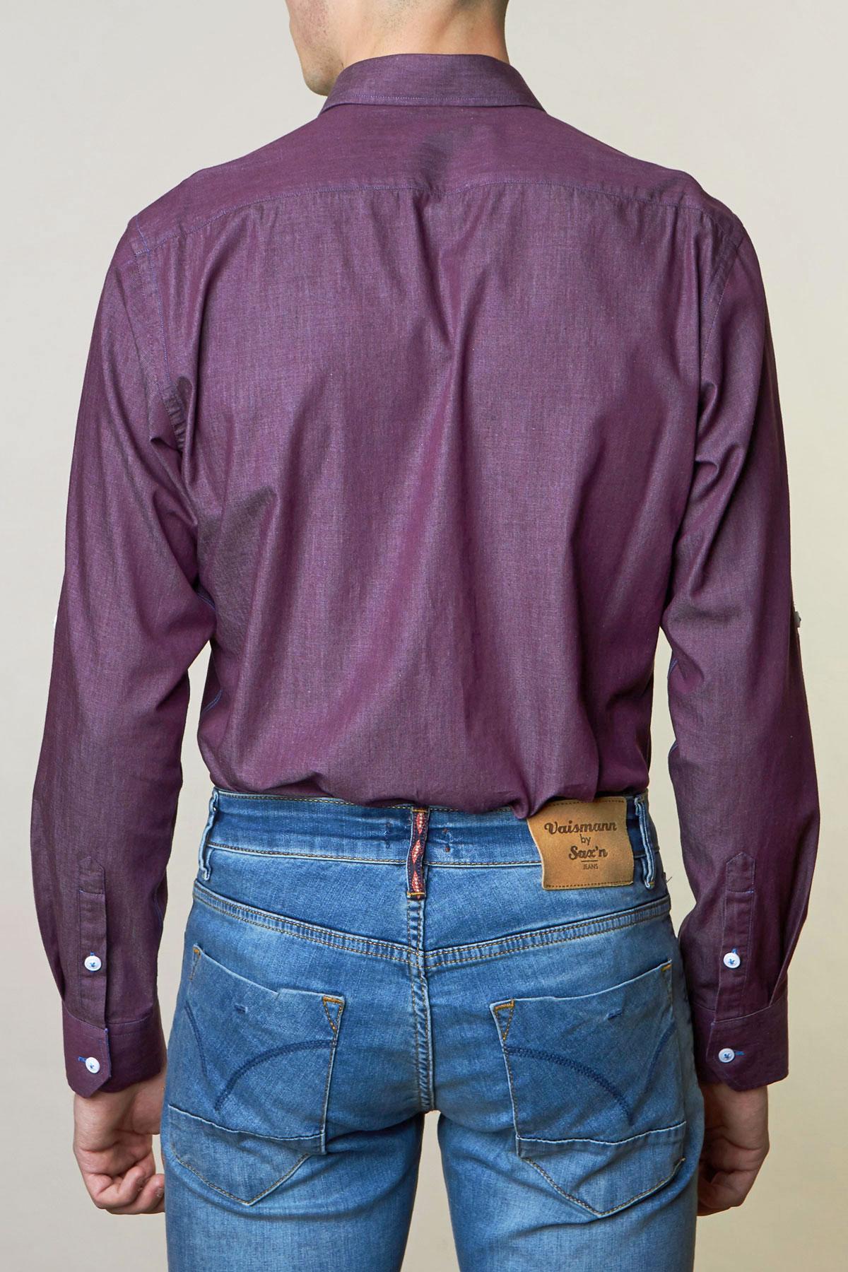 Рубашка приглушенно-бордового цвета Vaismann 19152