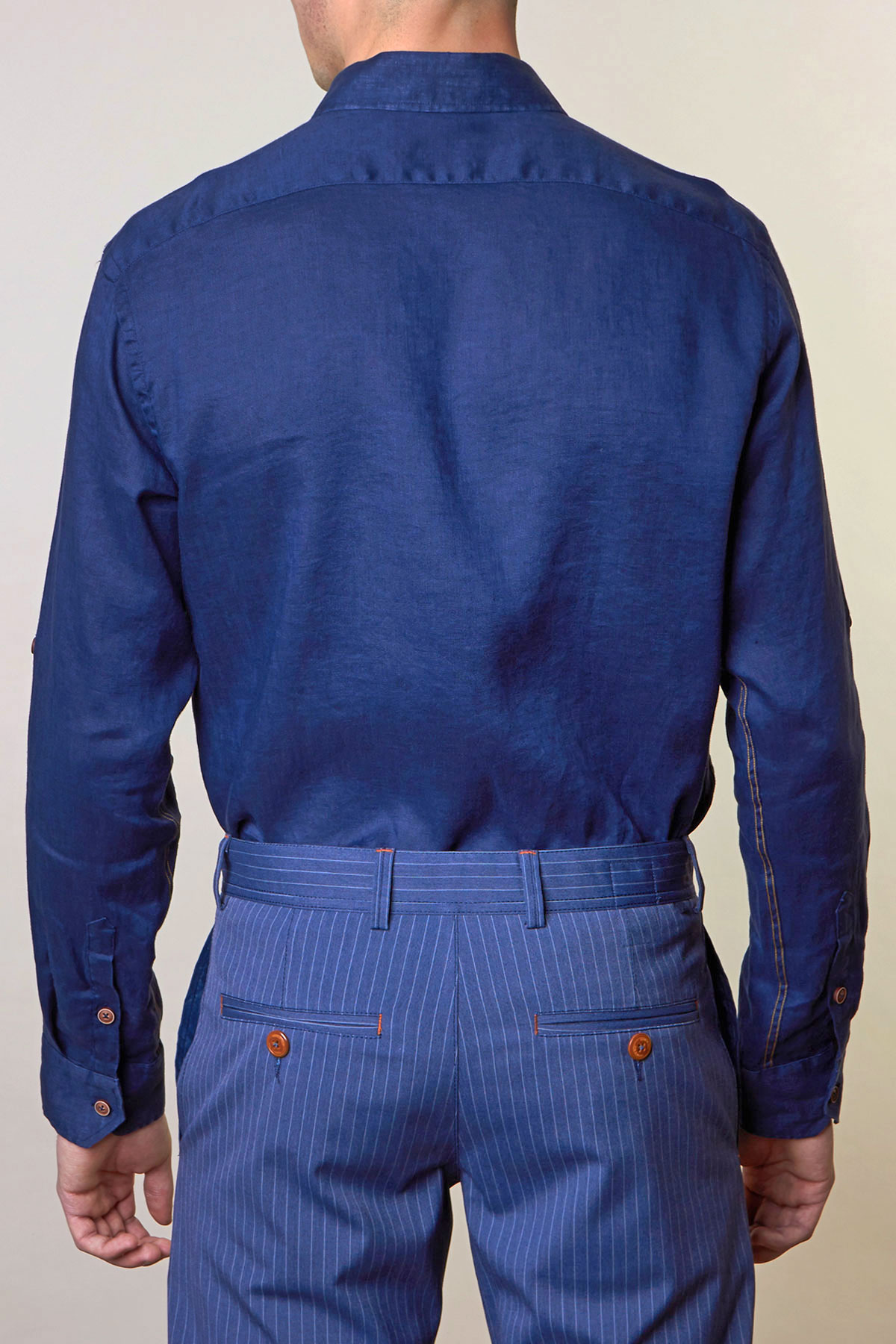 Рубашка синего цвета Vaismann 19154