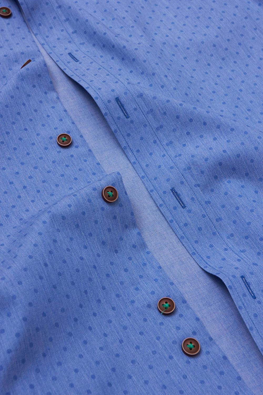 Рубашка голубого цвета Vaismann 19155