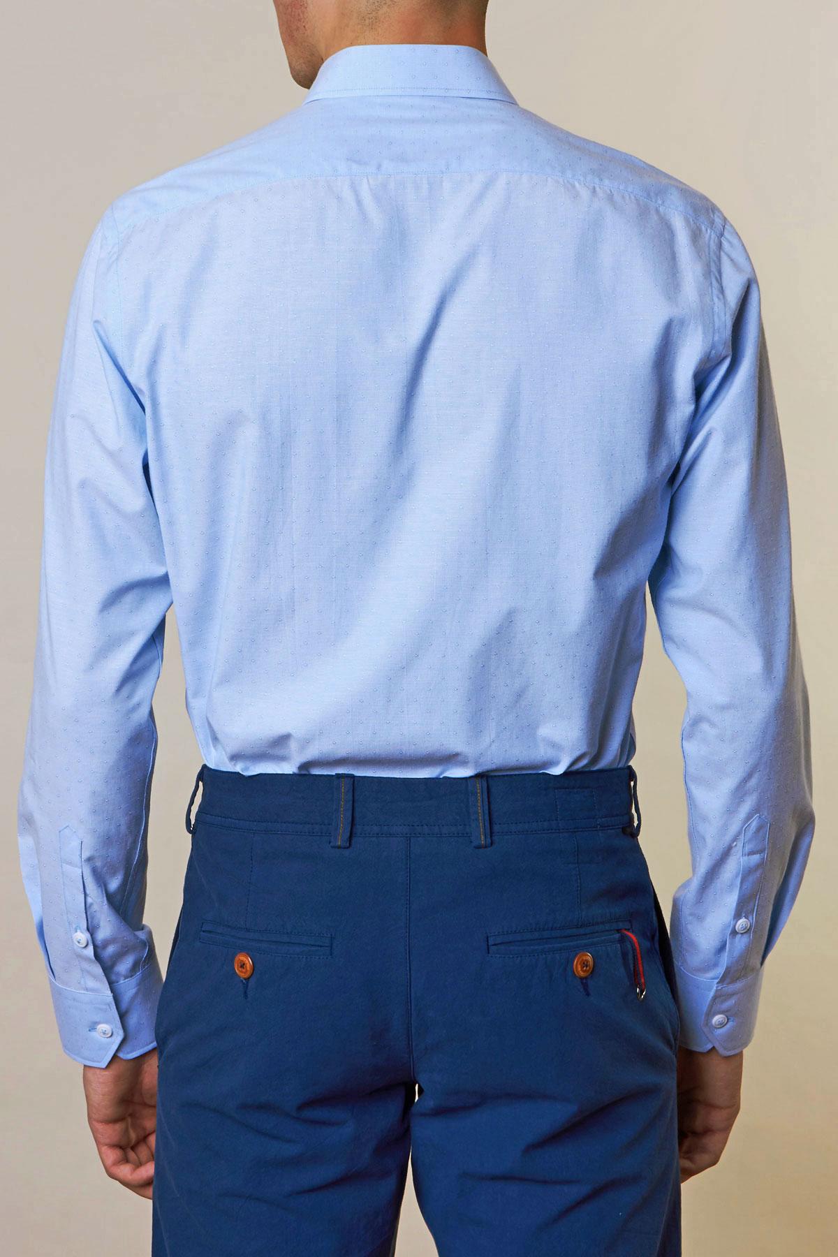 Рубашка голубого цвета Vaismann 19156