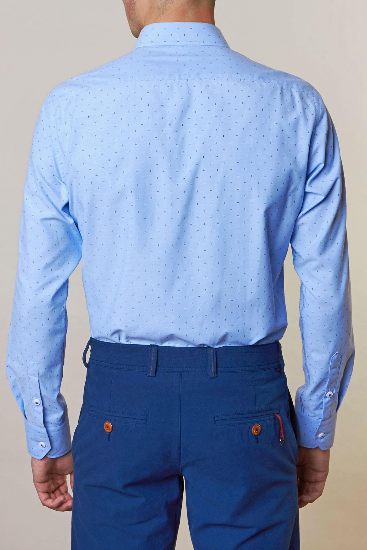Рубашка голубого цвета Vaismann 19157