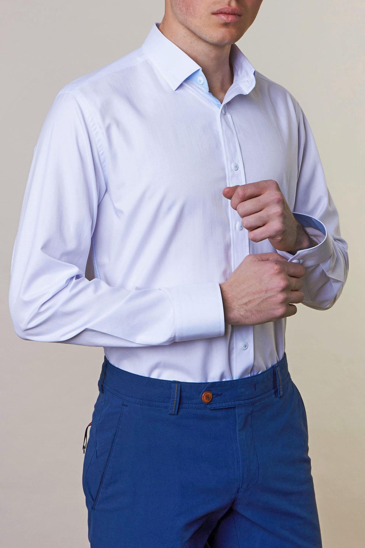 Рубашка белого цвета Vaismann 19159