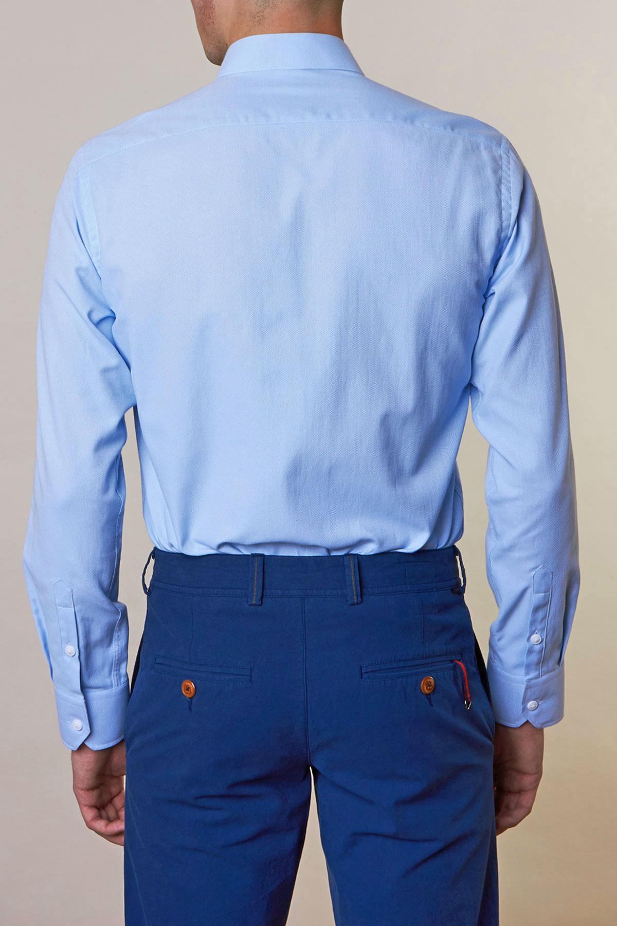 Рубашка голубого цвета Vaismann 19160