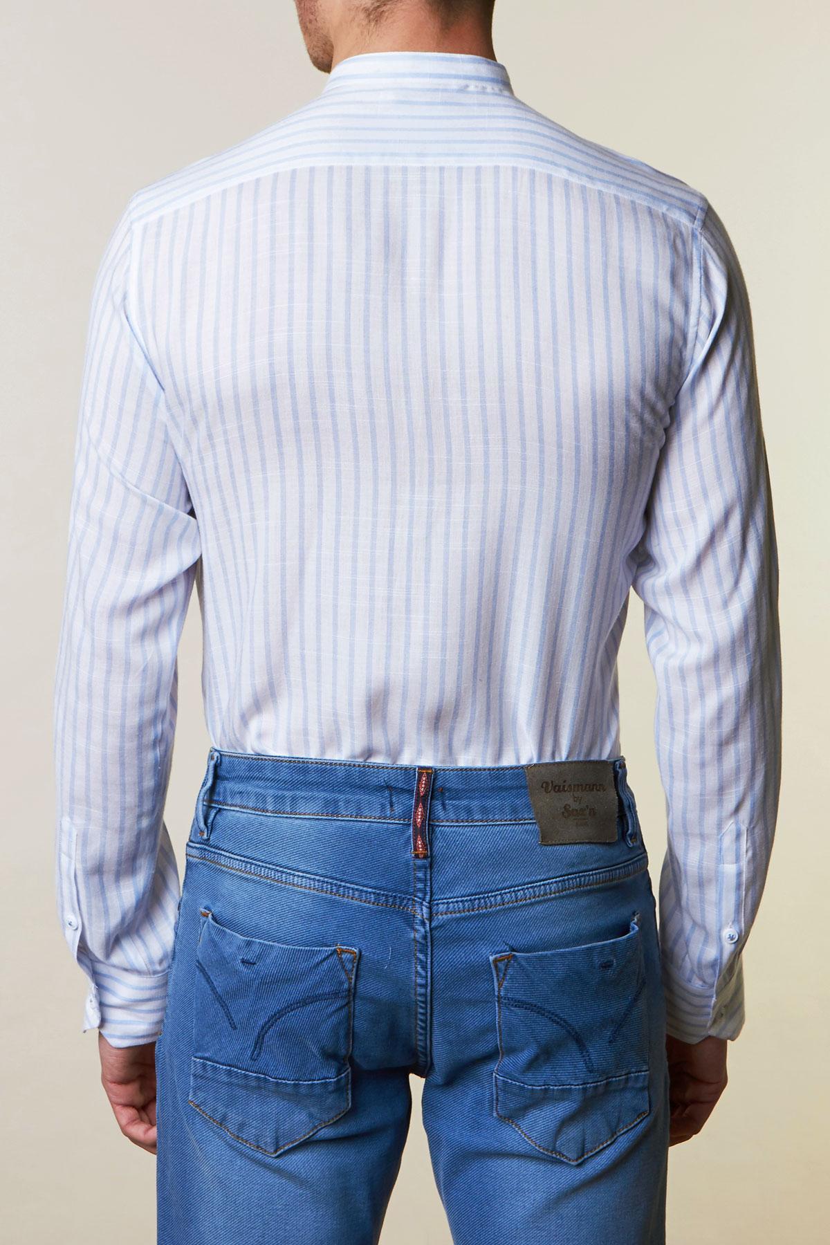 Рубашка белого цвета в полоску Vaismann 19161