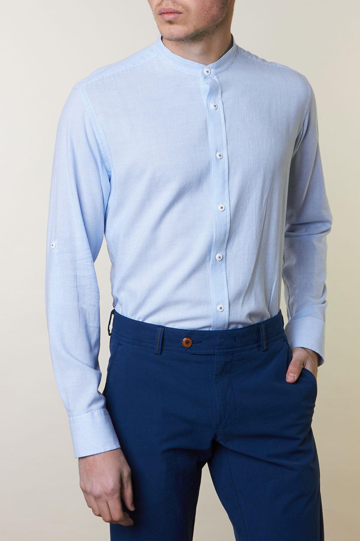 Рубашка в голубую полоску Vaismann 19163