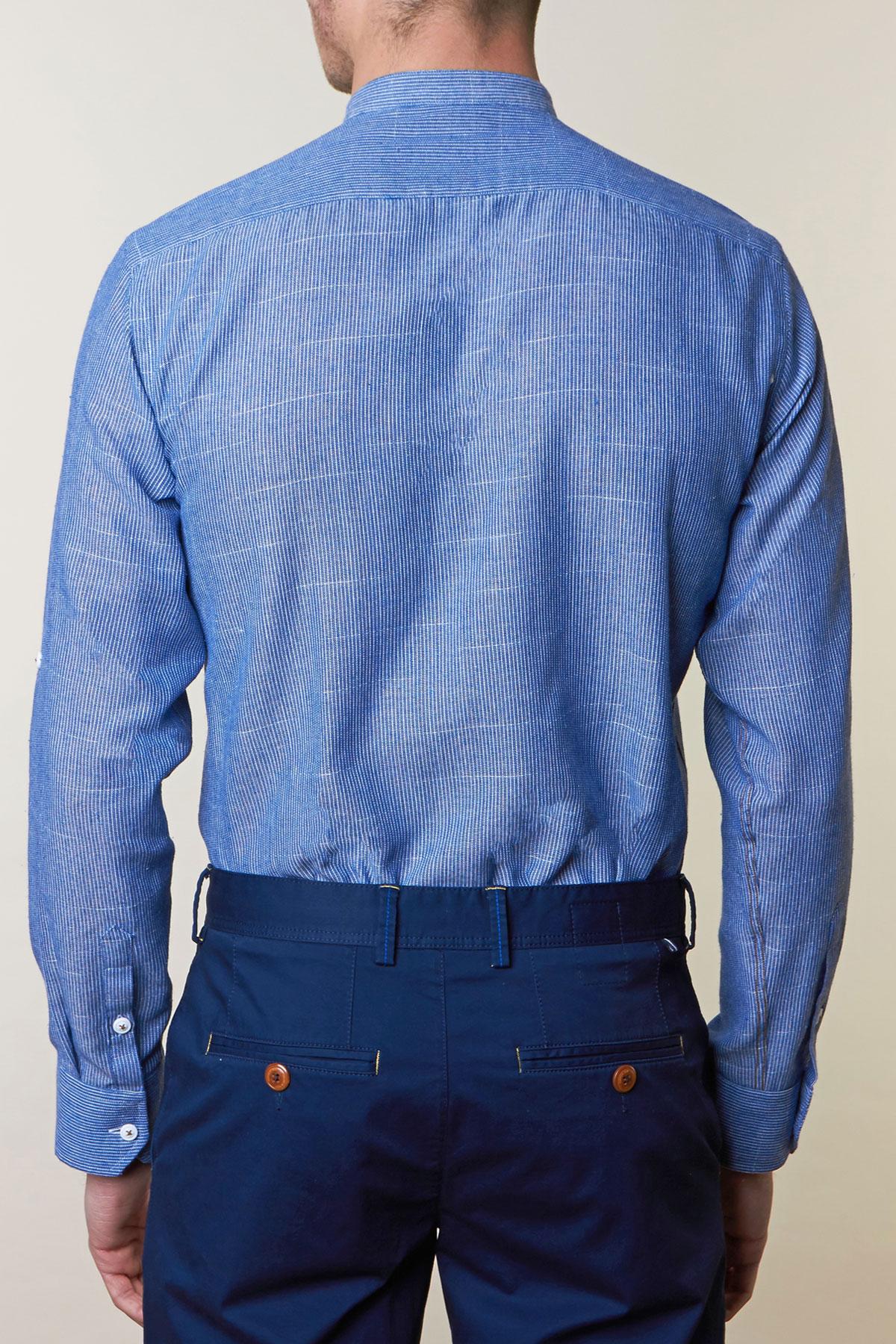 Рубашка в синюю полоску Vaismann 19164