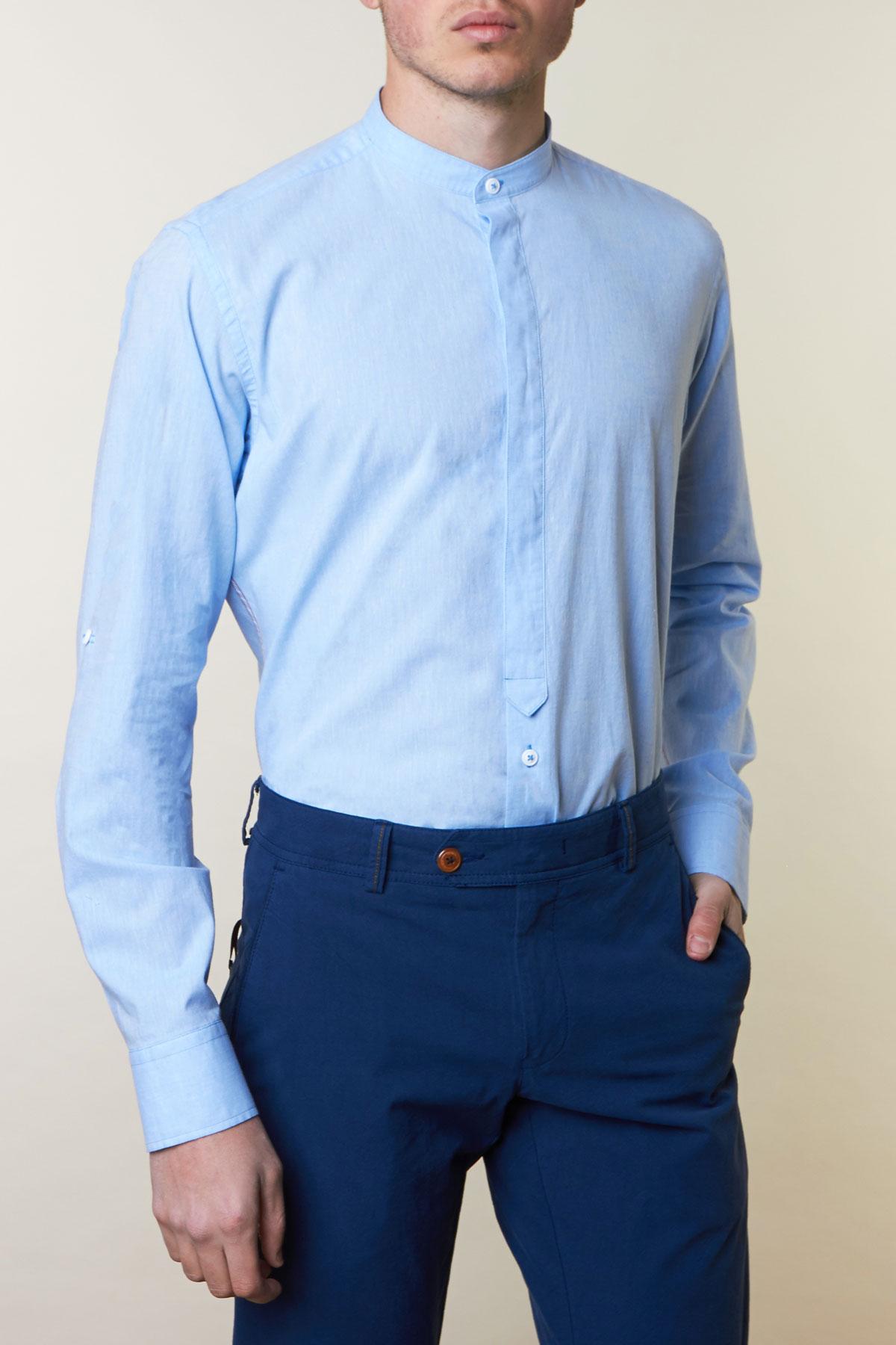 Рубашка голубого цвета Vaismann 19165