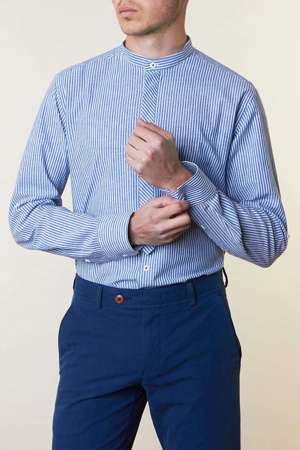 Рубашка в синюю полоску Vaismann 19167